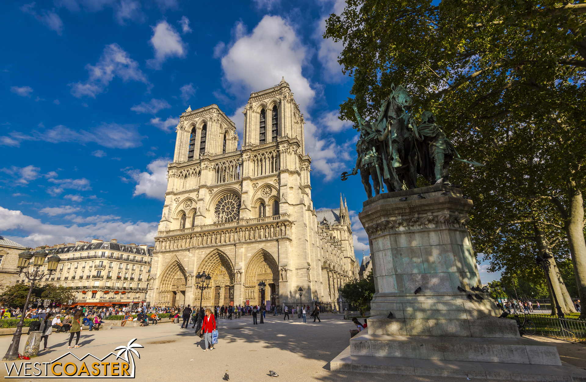 The Cathedral of Notre-Dame lies practically in the literal center of the city and is possibly the most visited cathedral in the entire world.