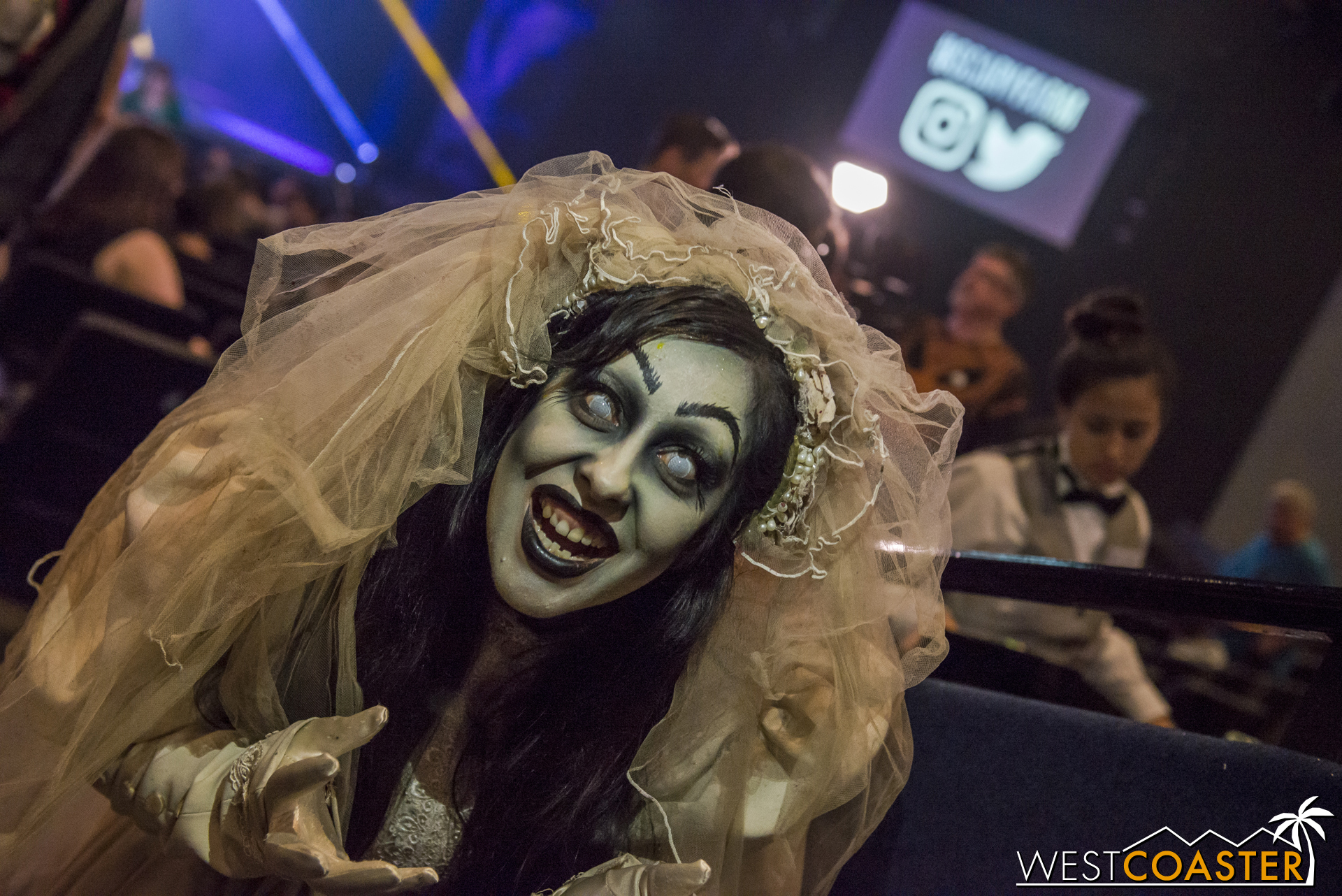 And of course, it's not Scary Farm with The Bride, who has become an unofficial event icon almost as recognizable (and certainly more terrifying) as the Green Witch herself!