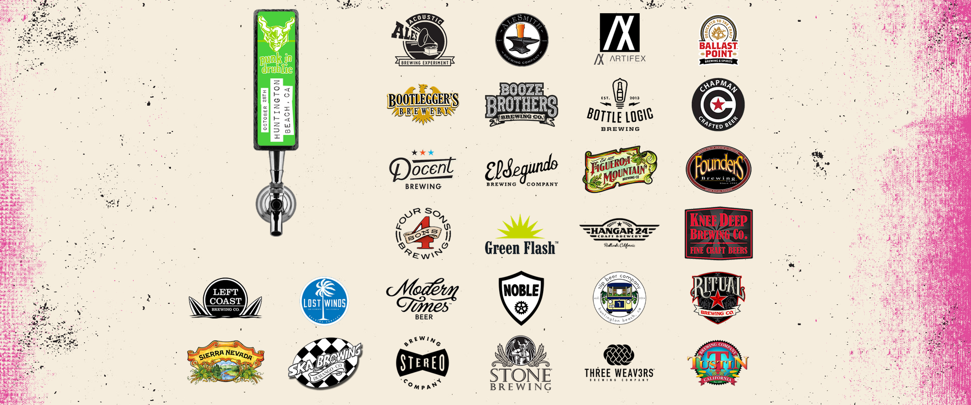 Some of the participating breweries.