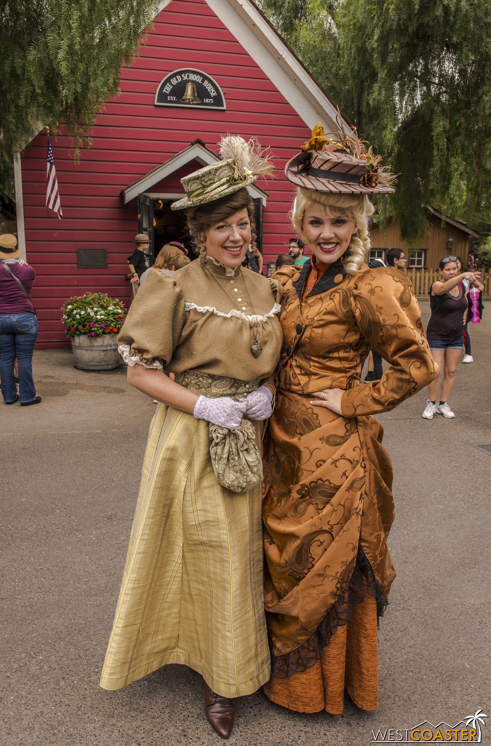 The West sisters, Gertie (left) and Goldie.
