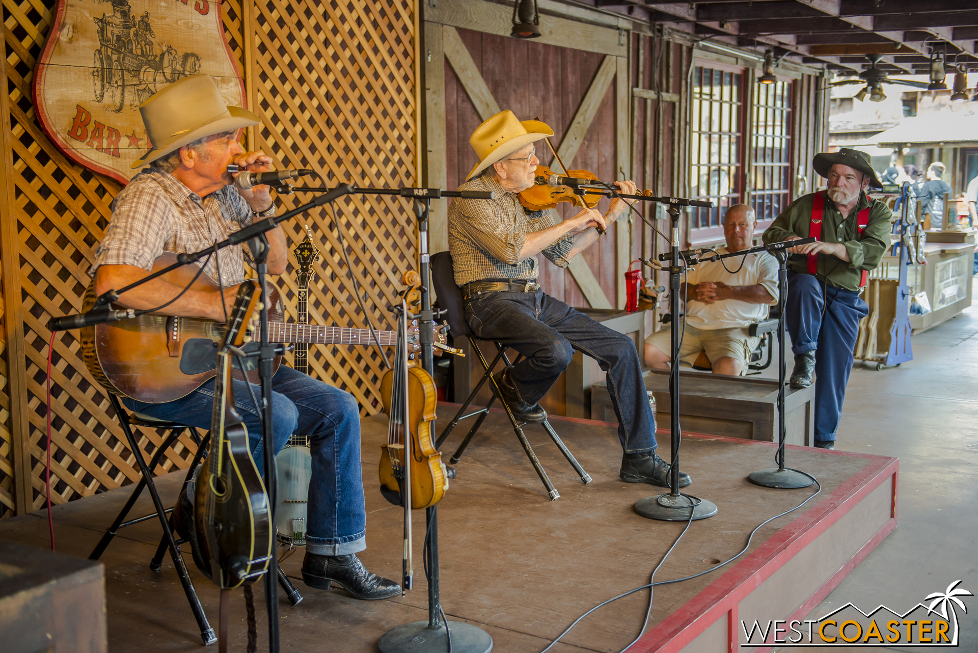 The musicians at the Fireman's BBQ Stage provided some great ambiance to Ghost Town.
