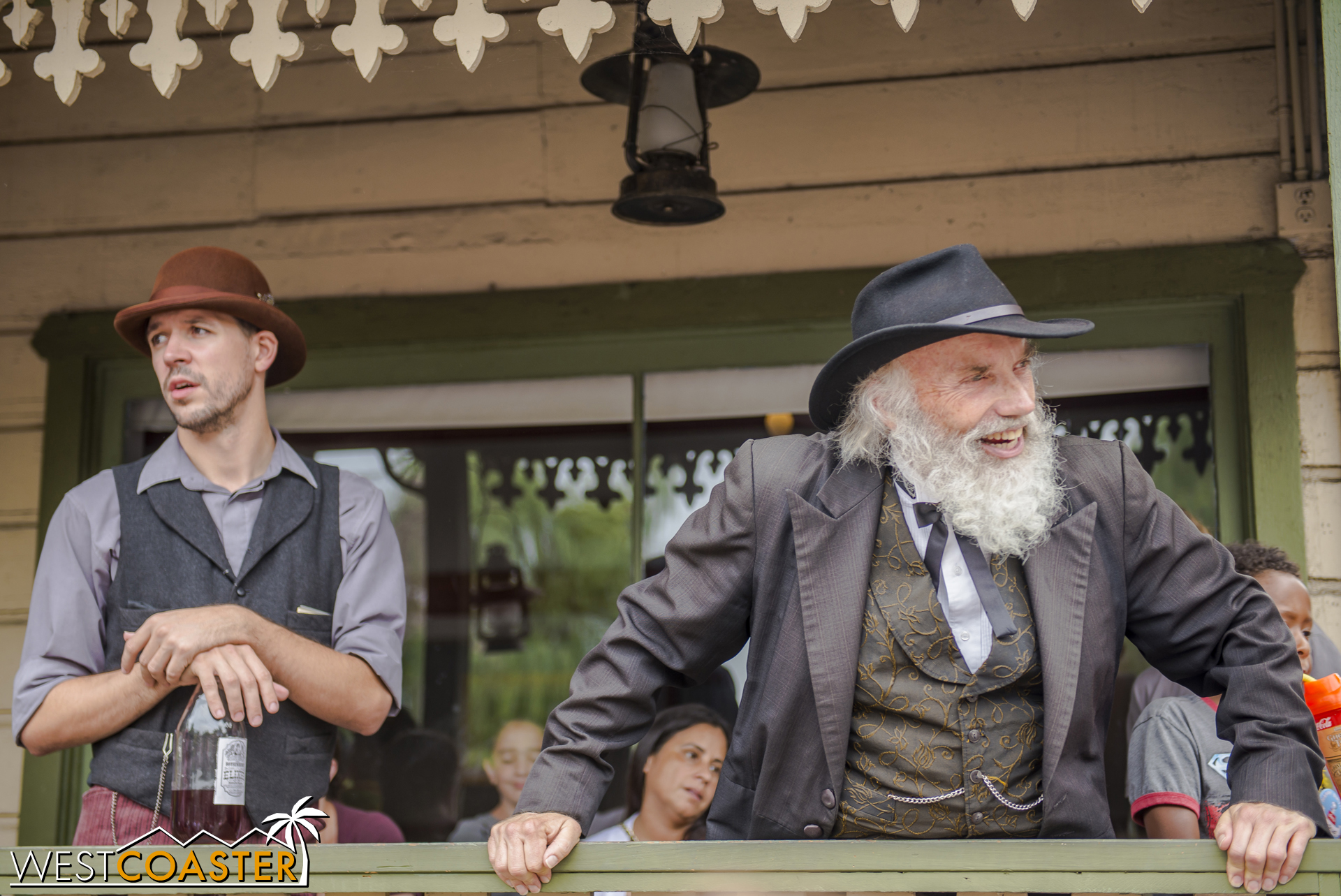 Kenny Storm and Judge Roy Bean look on to make sure voting is being conducted fairly.