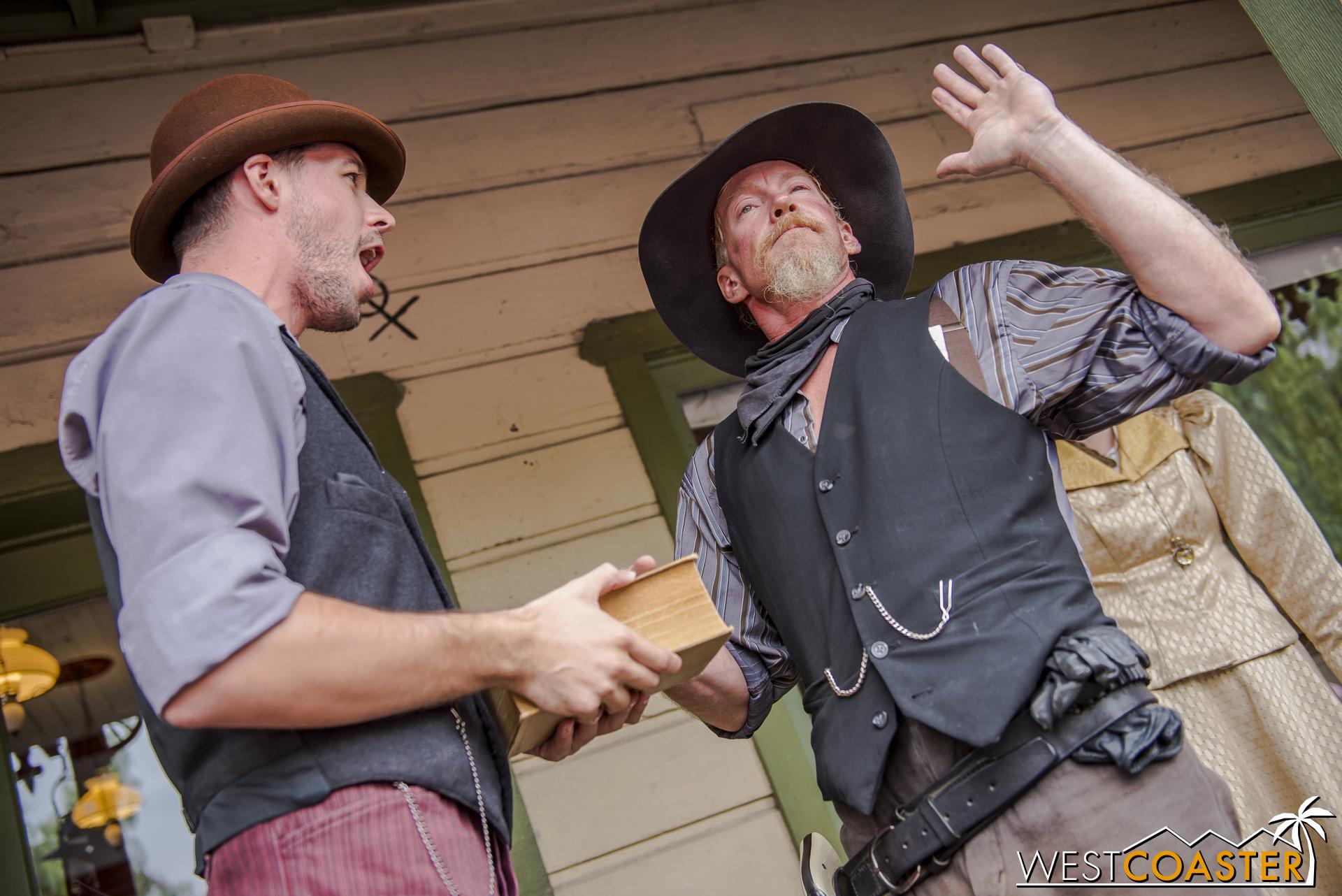 Clay endures Kenny Storm's verbal blasts as he is sworn in.