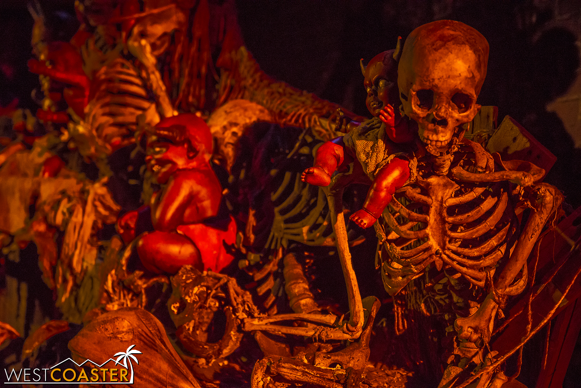The Urban Inferno scare zone was a gauntlet through hellish theming and monsters.