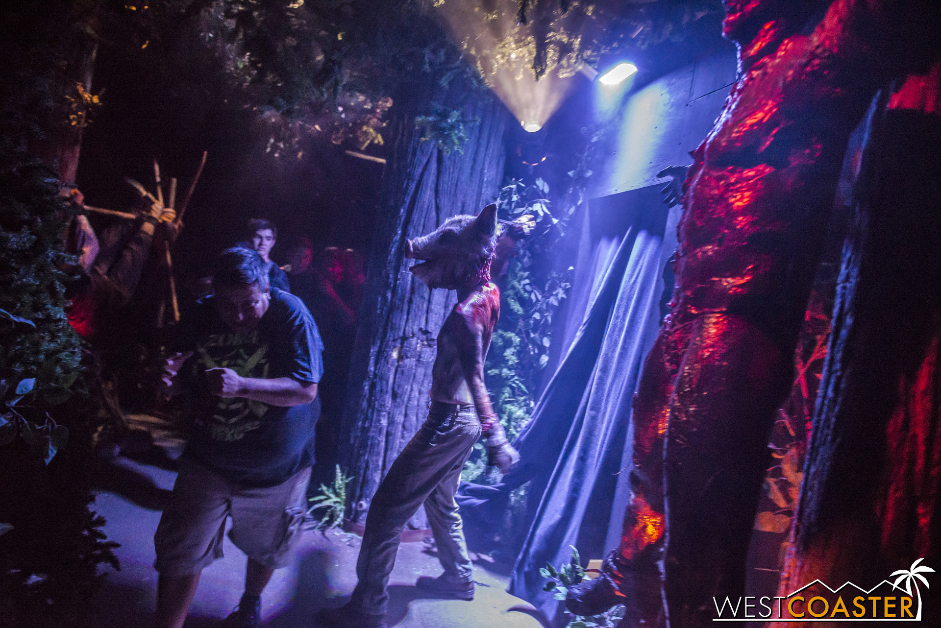 Proof that Horror Nights' signature scare tactic certainly can be effective, at least at times.