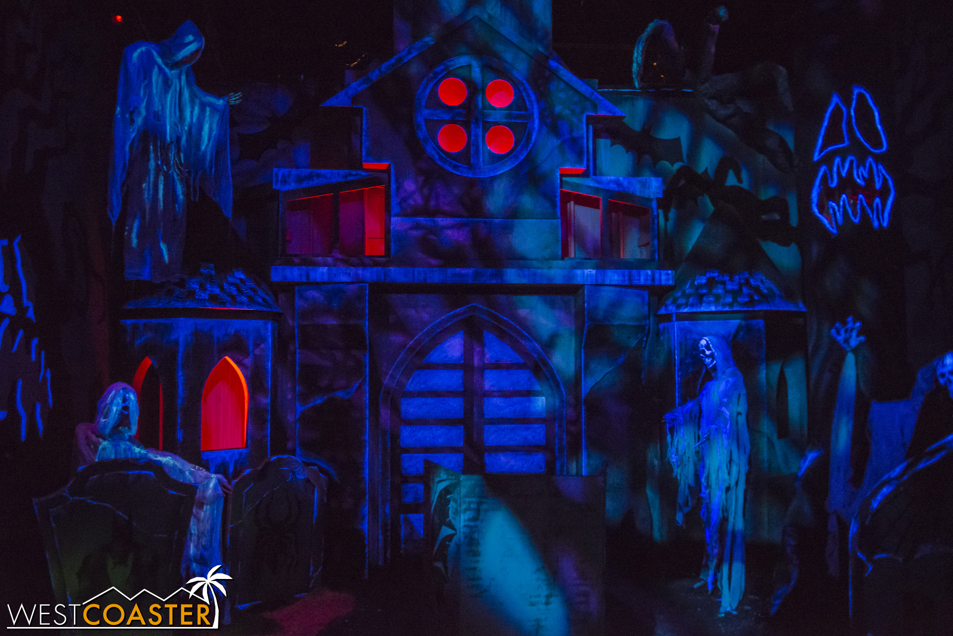 Dark Ride very successfully recreates the ambiance of the classic and corny amusement park haunted house tracked rides.