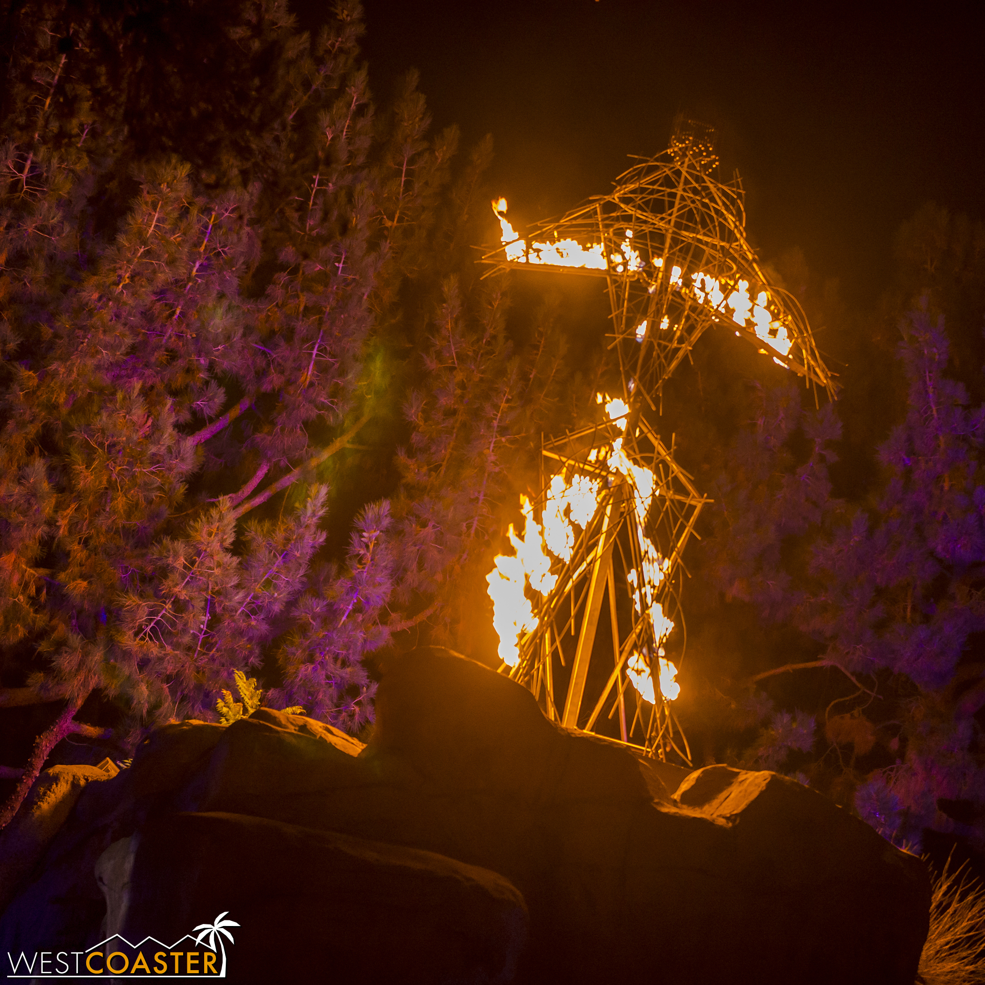 The wicker man bursts into flames as a climactic emphasis on this warning.