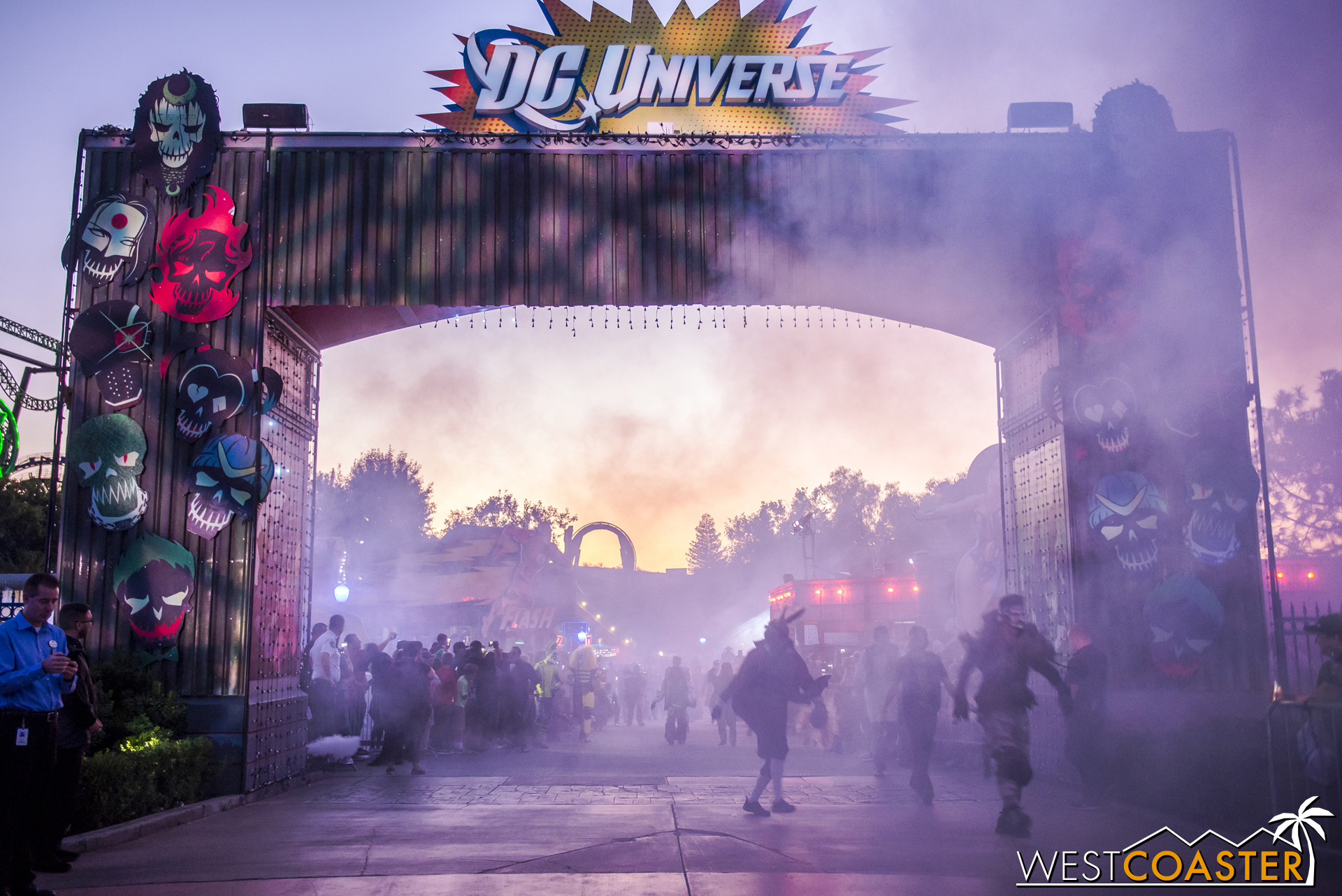 Fog billows as the monsters of Fright Fest come out to play.