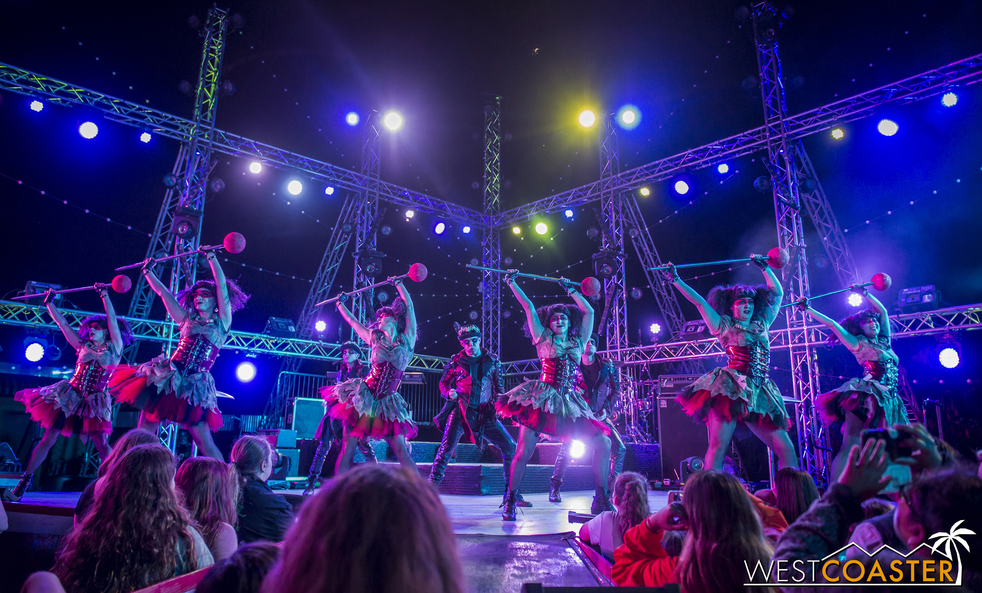 The Voodoo Dolls dancers take the floor afterward.