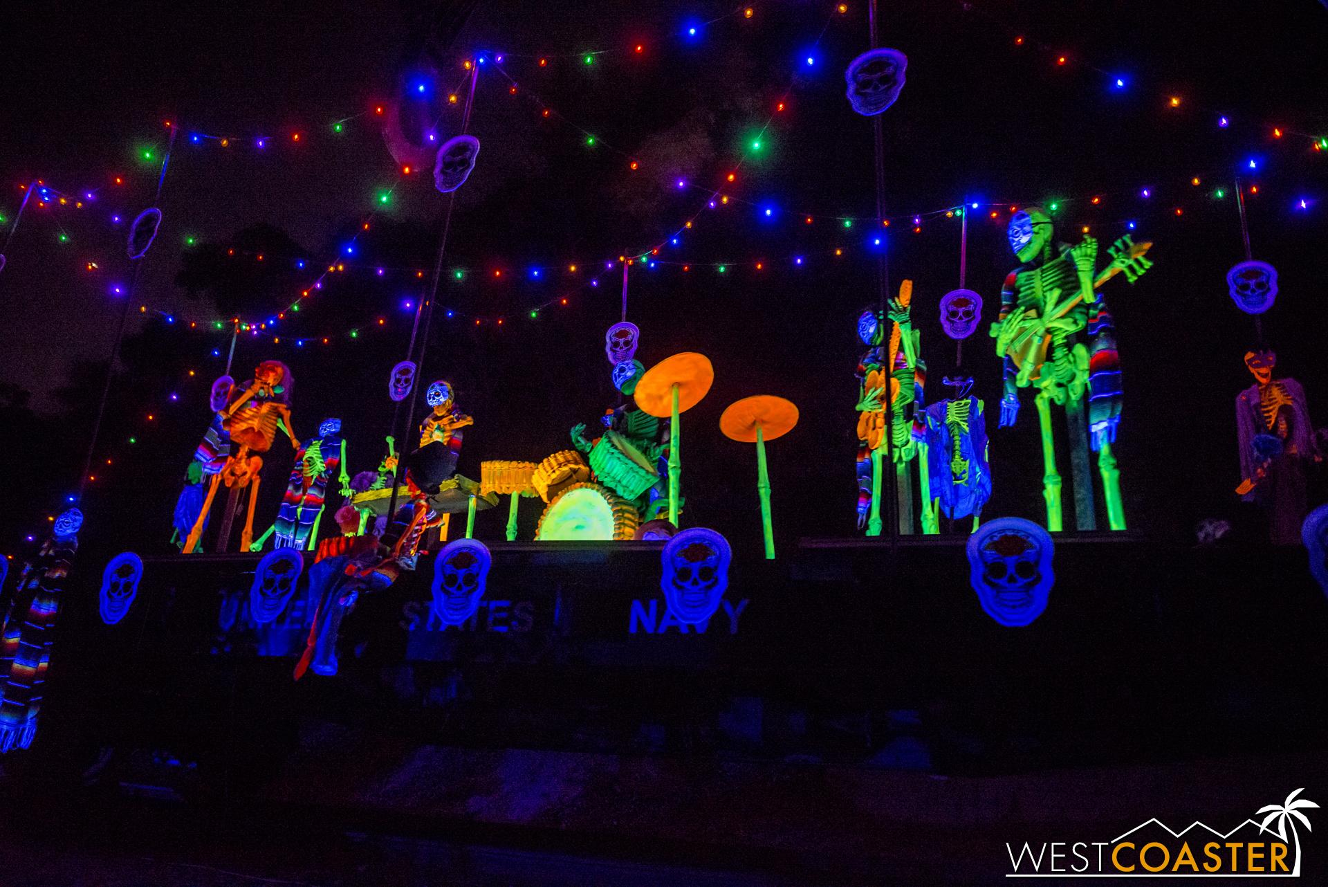 A fun Día de los Muertos scenes celebrates the Mexican ritual holiday that comes right after Halloween.