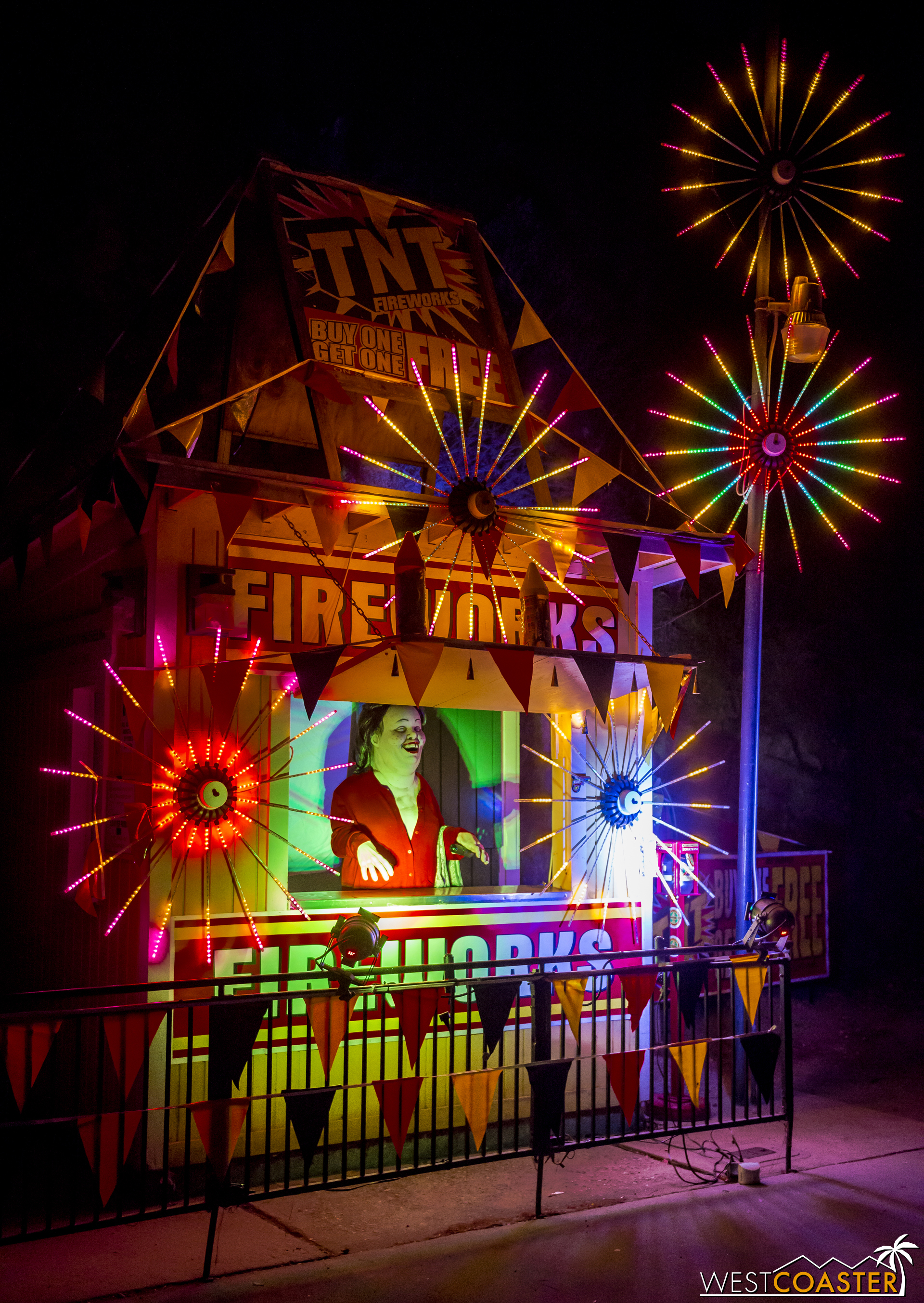 Rosie O'Donnell selling fireworks is a frightening sight indeed!