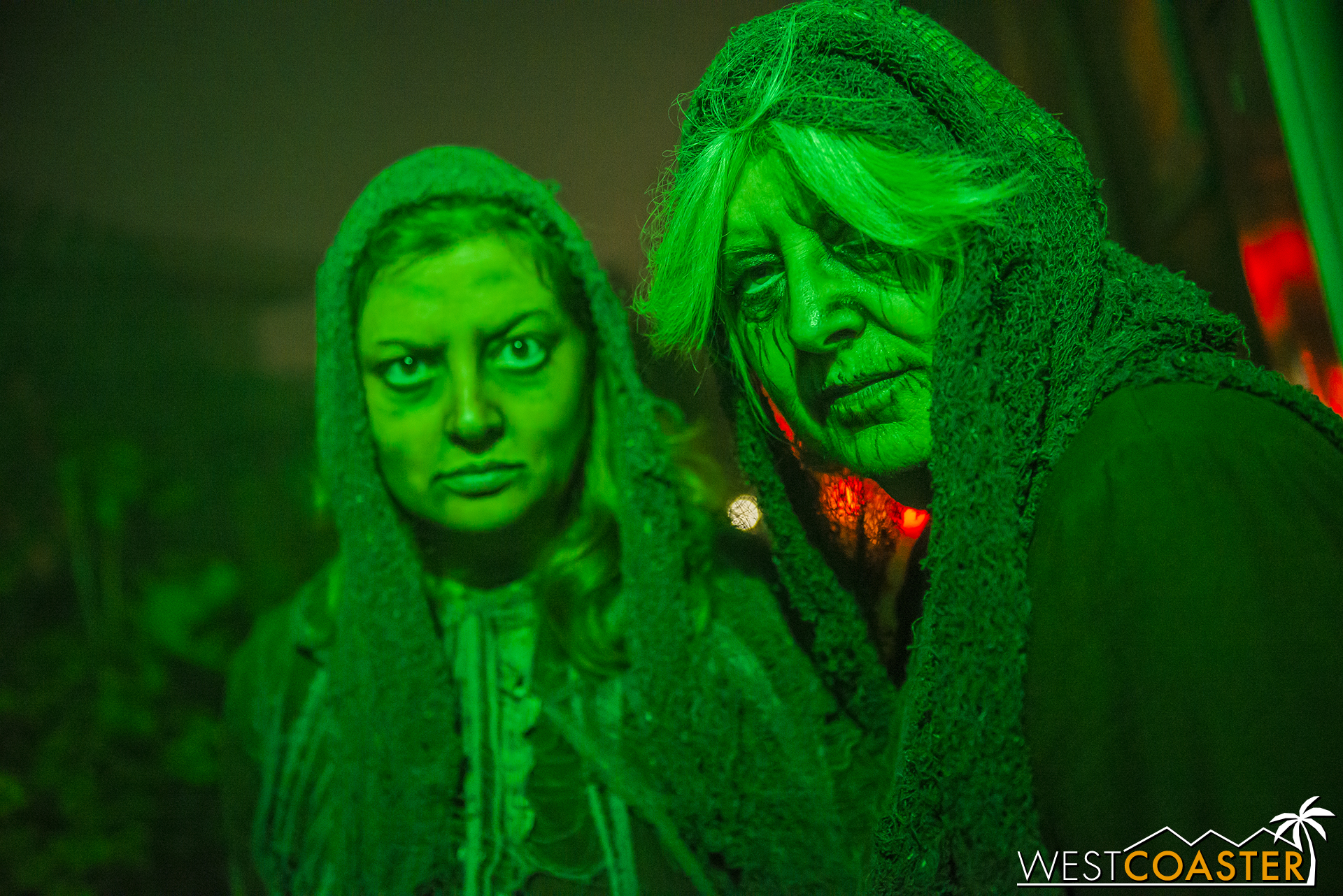 A mother-daughter duo make up the two hags that guests encounter in the maze.