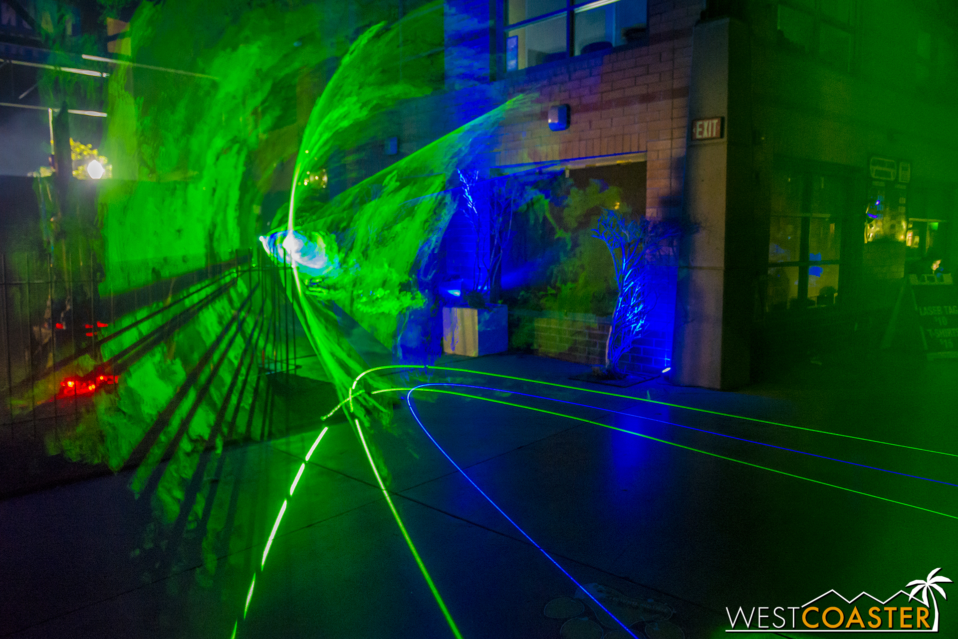 A (what else) green laser vortex effect provided some eye candy inside the entrance of the haunt.