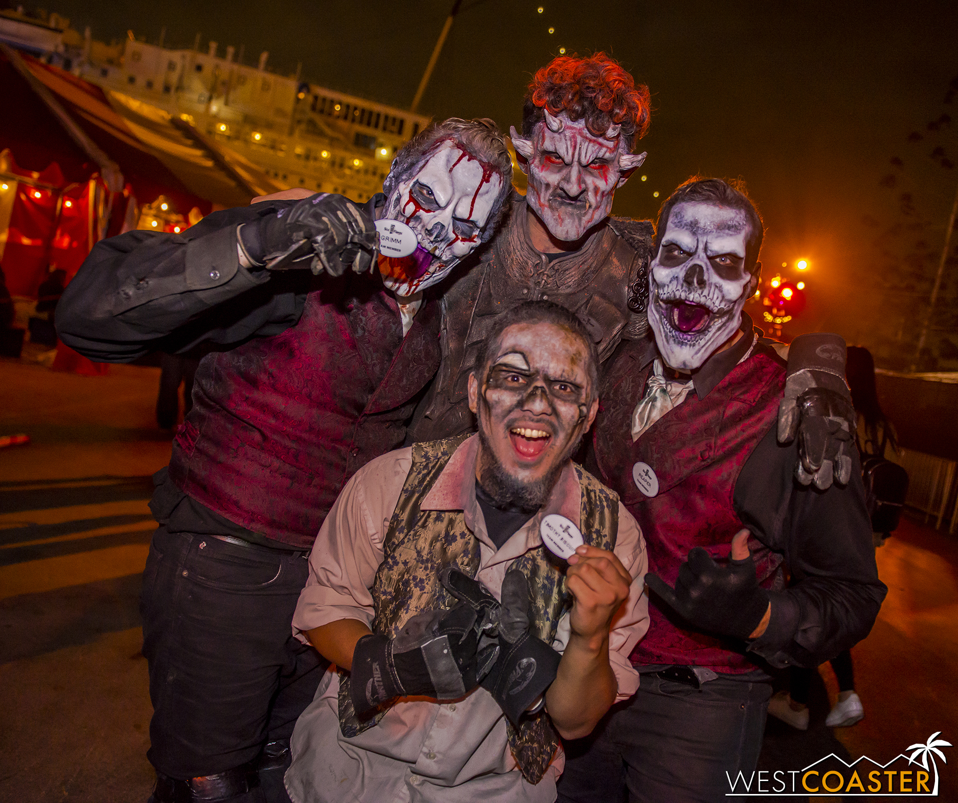 The Six Flags monsters certainly came a long way to participate in this Long Beach event!