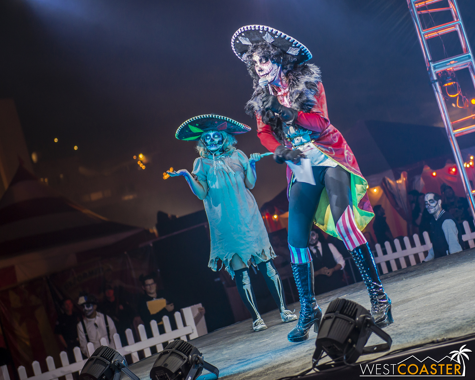 The Ringmaster was primary emcee, with Scary Mary assisting with the contestants on stage.