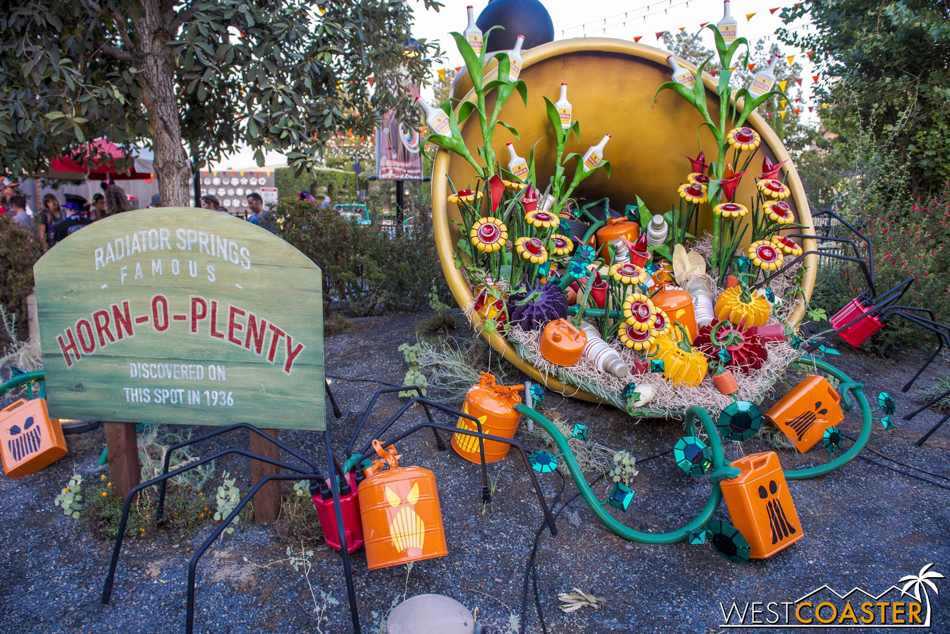 On the side, the famous Horn-O-Plenty showcased Cars Land's harvest blessings.