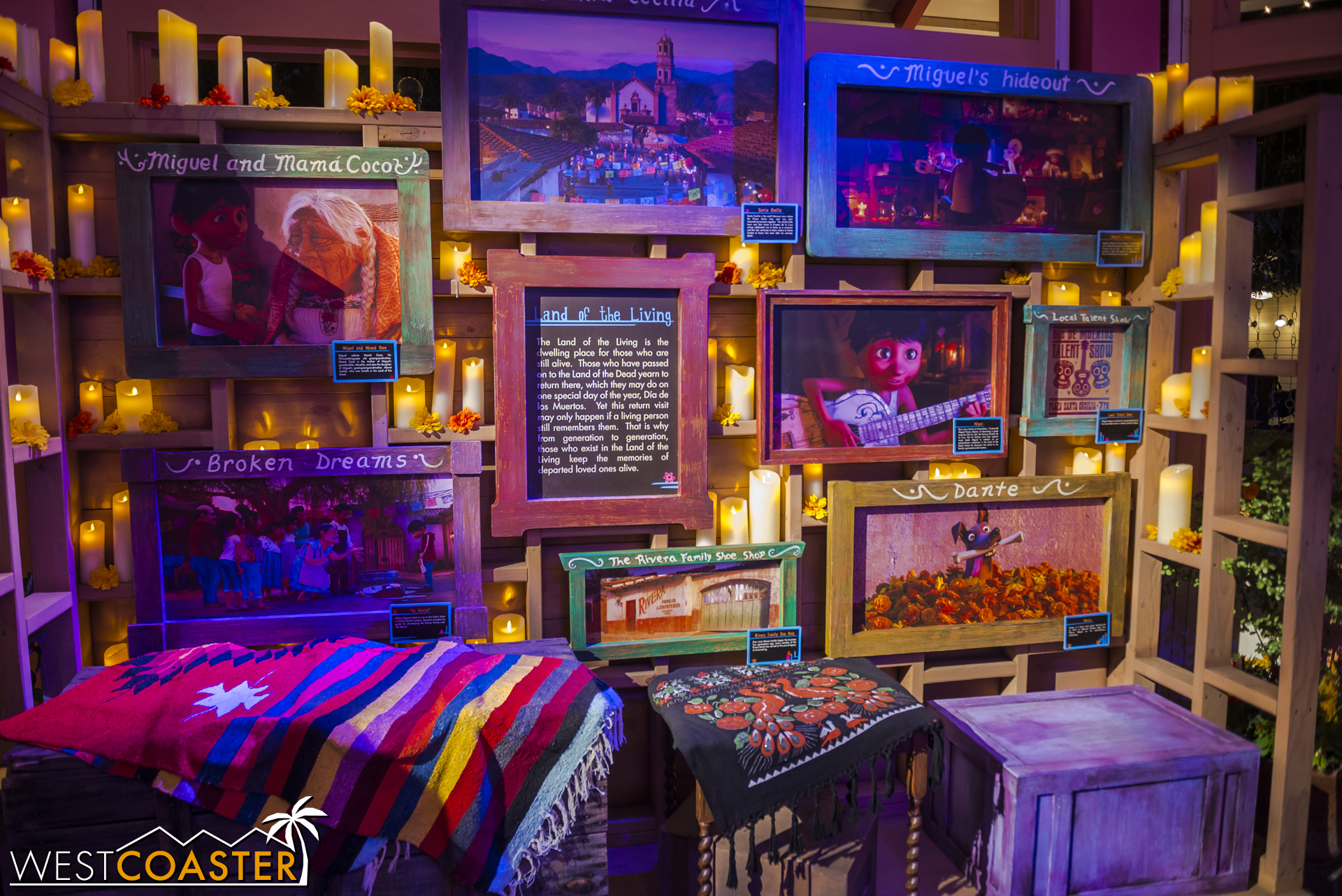 A fancy set outlined the world in which  Coco  takes place.