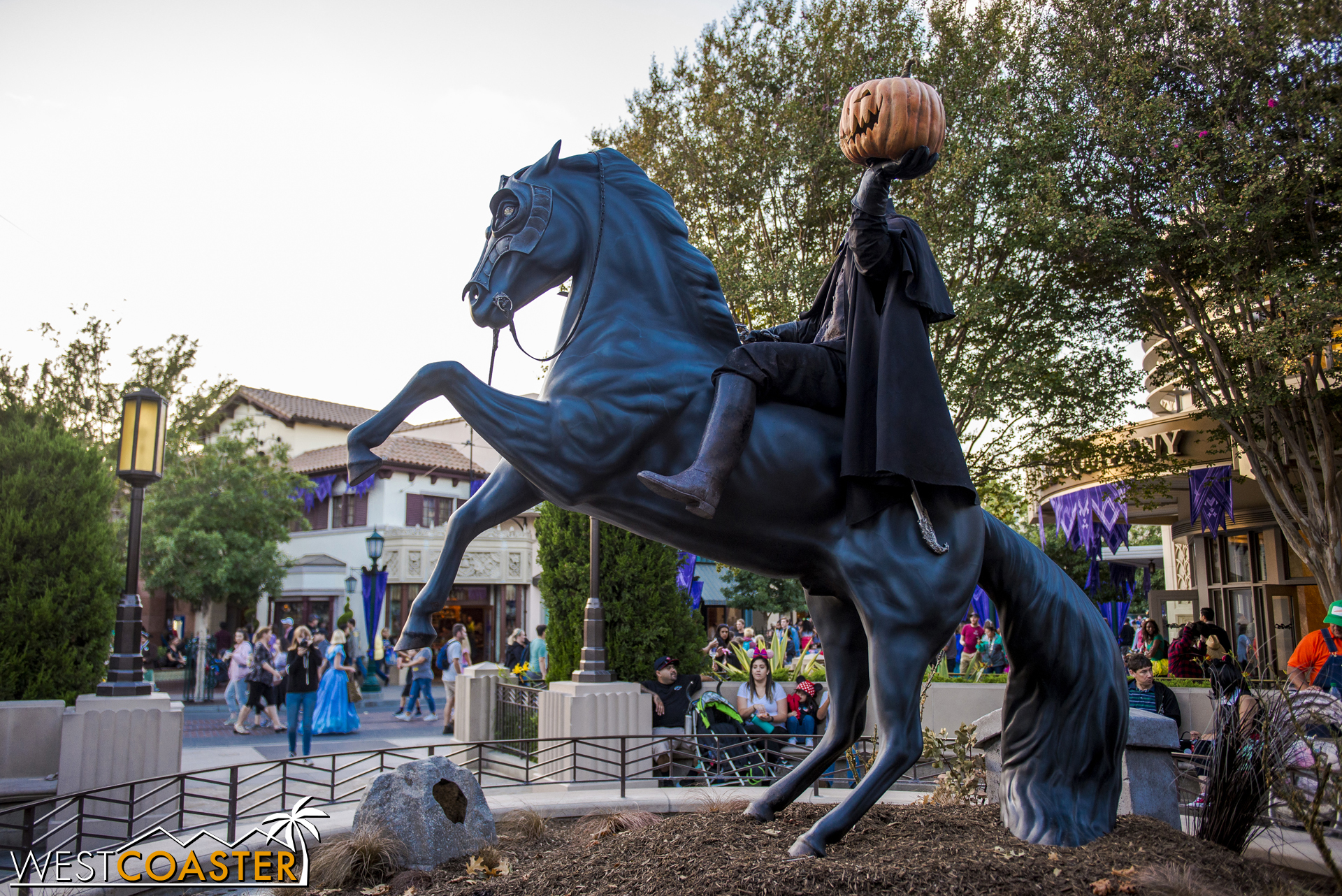 Nearby, a Headless Horseman statue provided a great photo op.