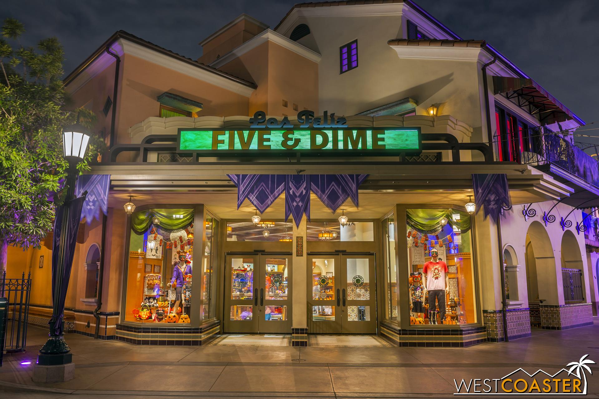 By night, Buena Vista Street was transformed.