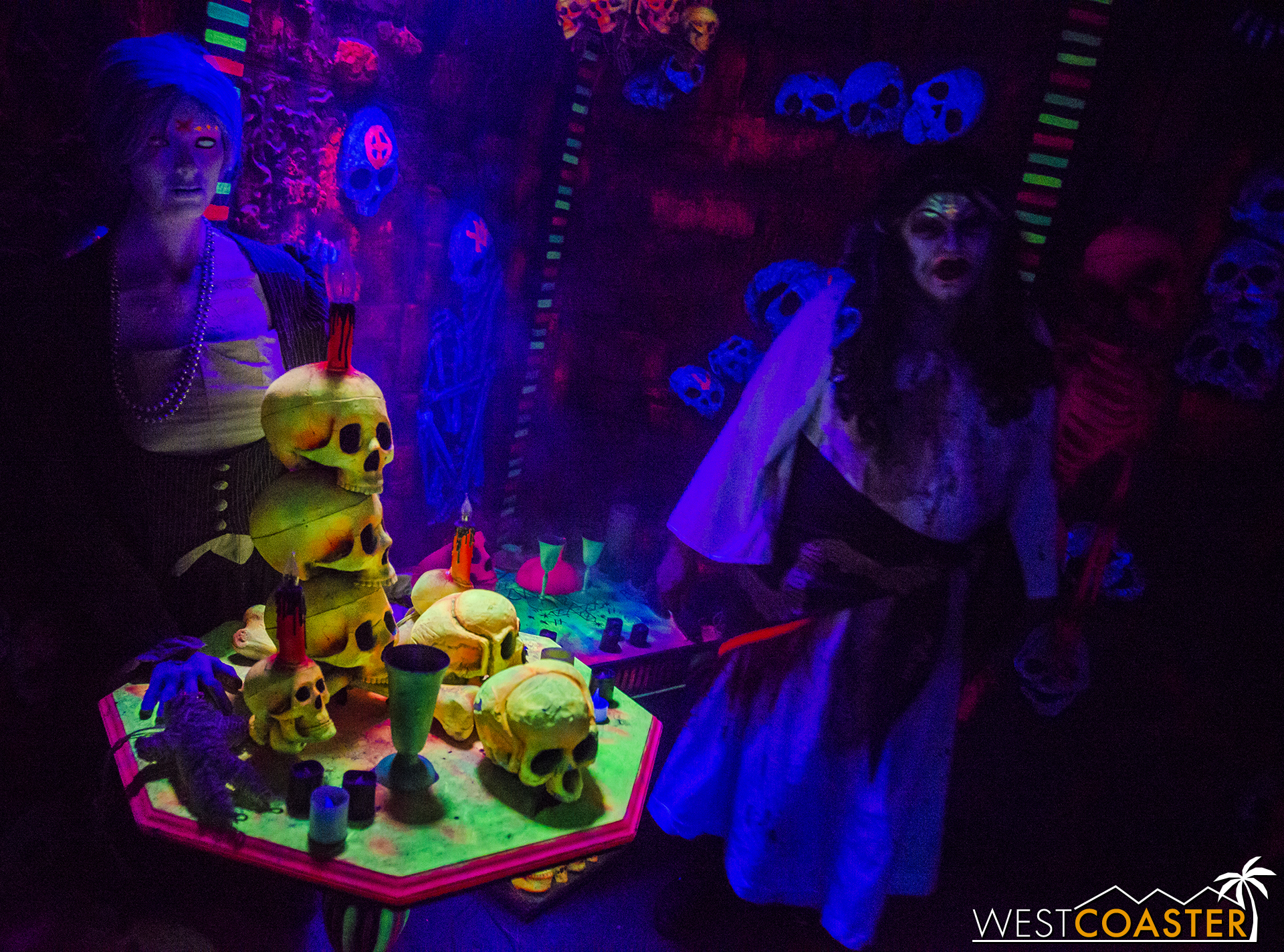 Guests entered into a room of colorful voodoo.