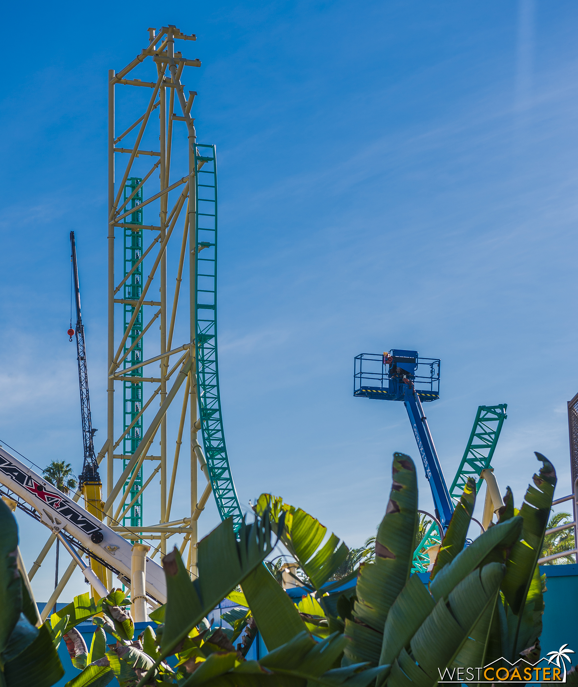 The ride will be visible from pretty much any angle in the park.