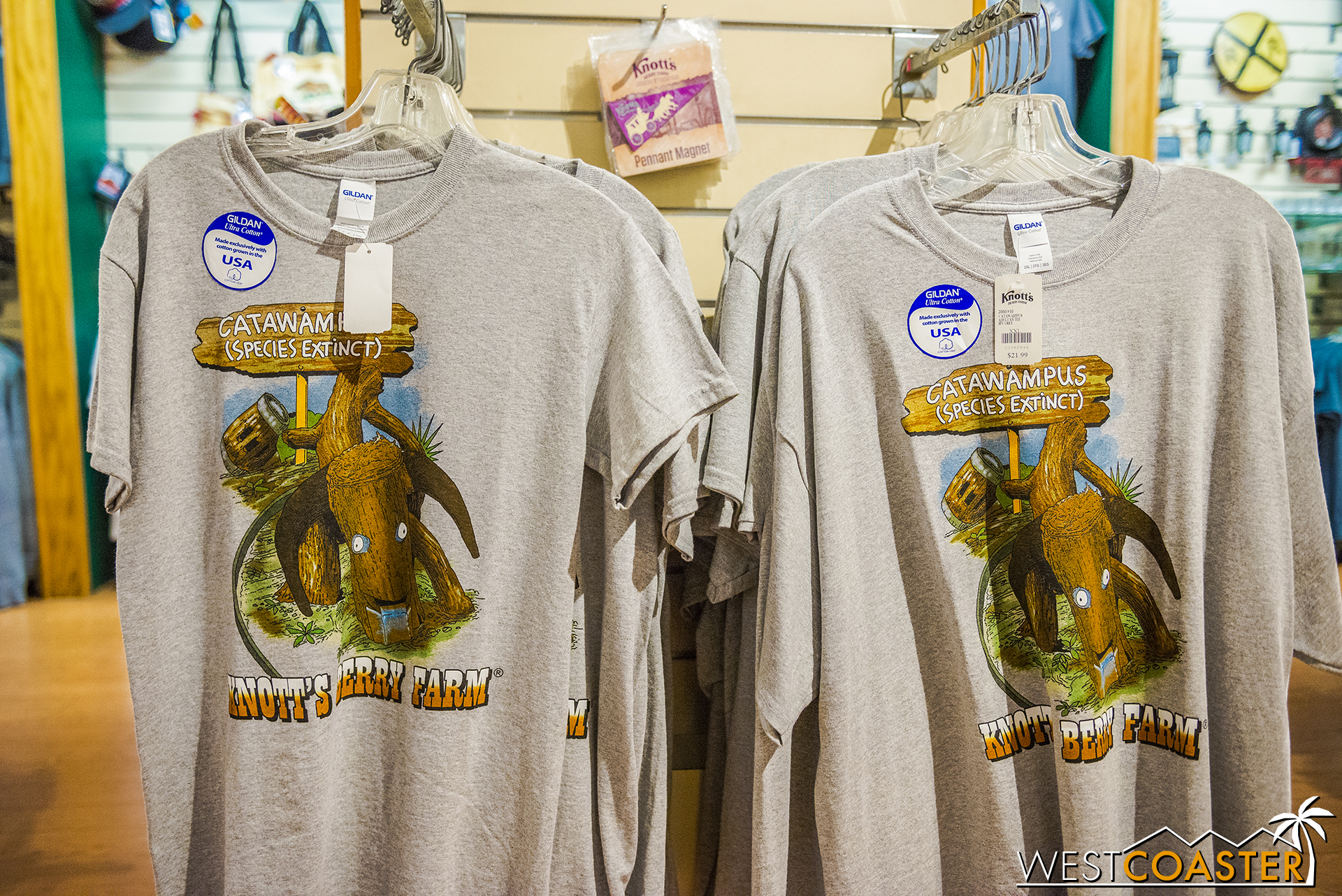 Knott's has Catawampus merchandise out and about now!