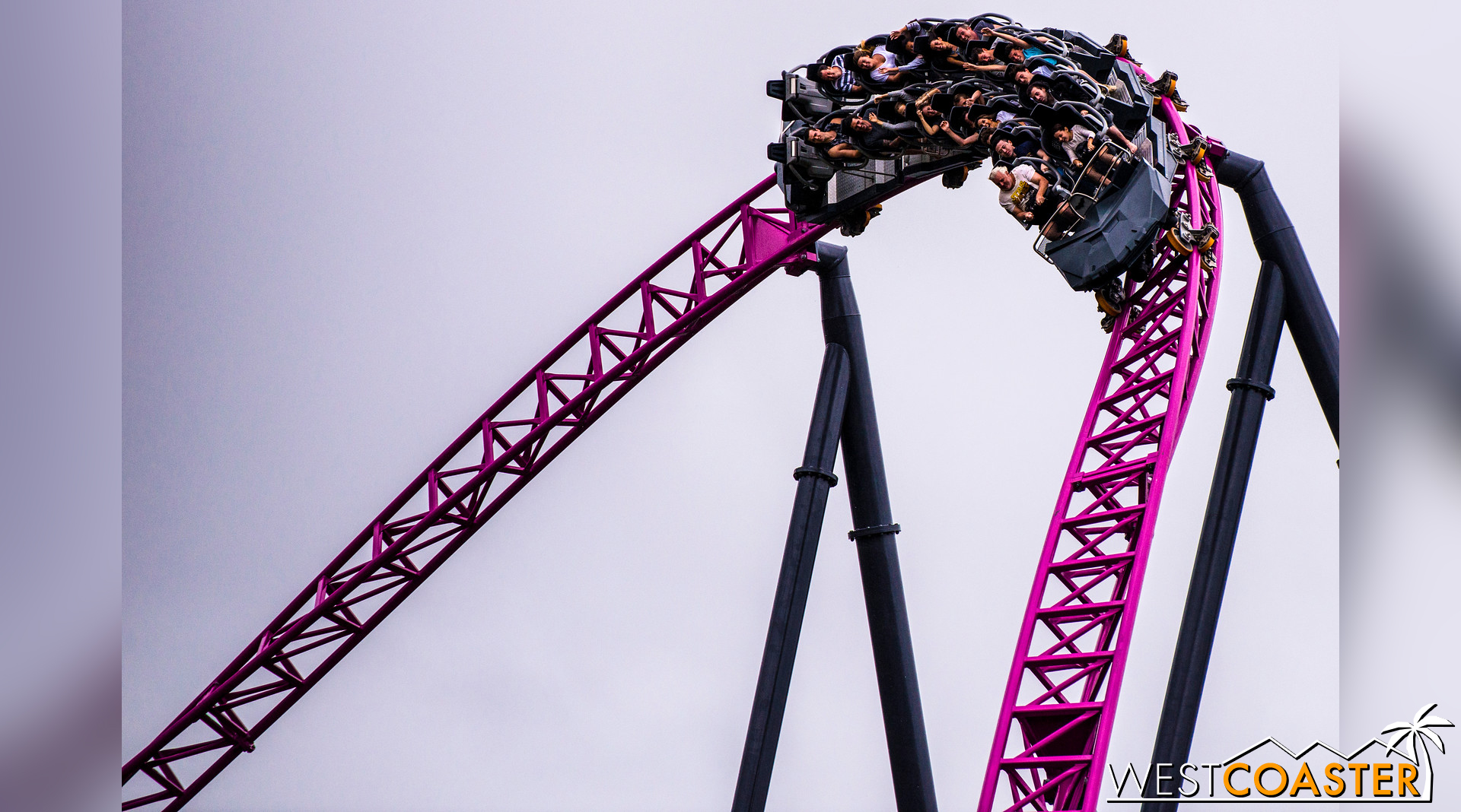 The speedy ride has a ton of twists and turns.