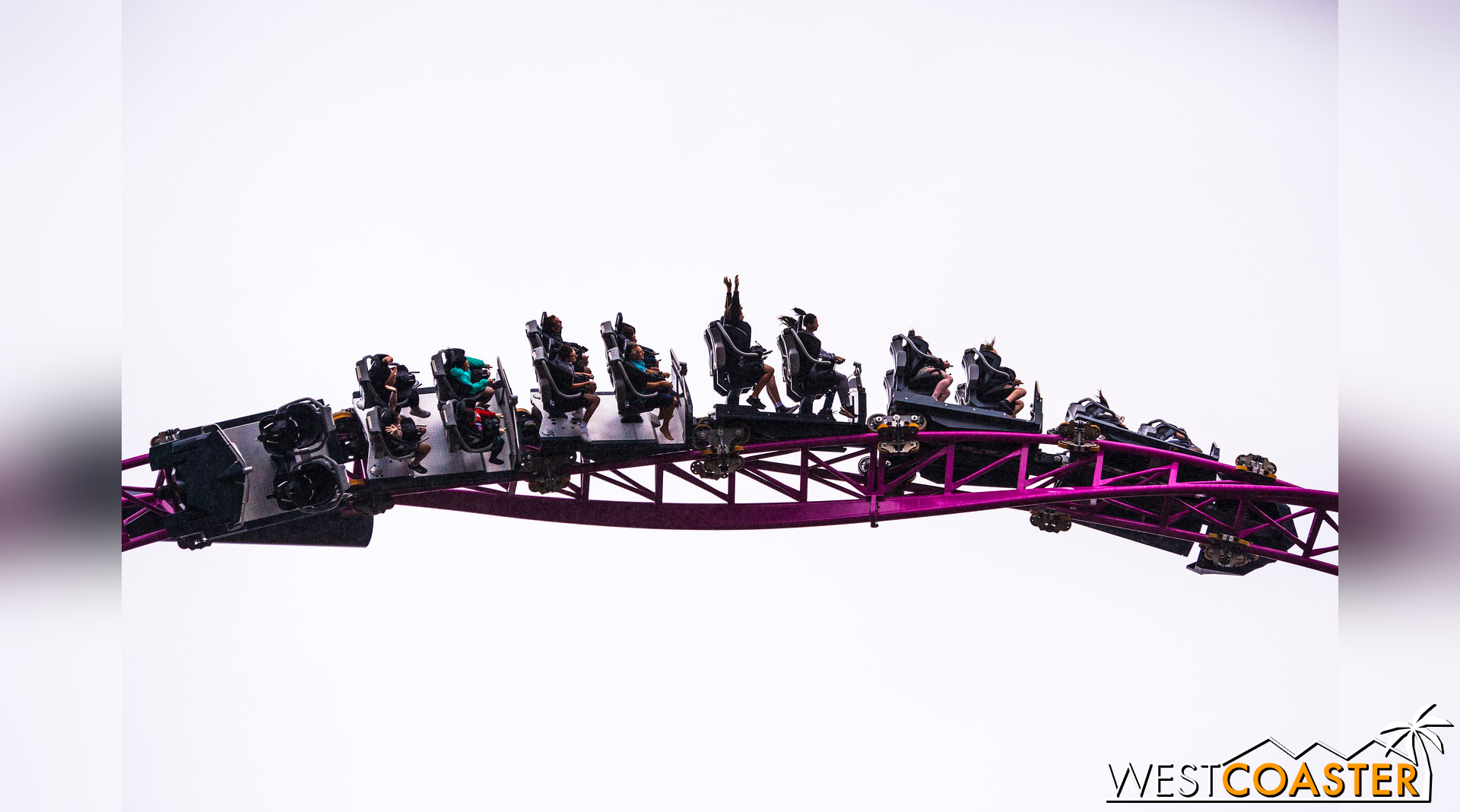 The roller coaster also features an non-inverted loop.