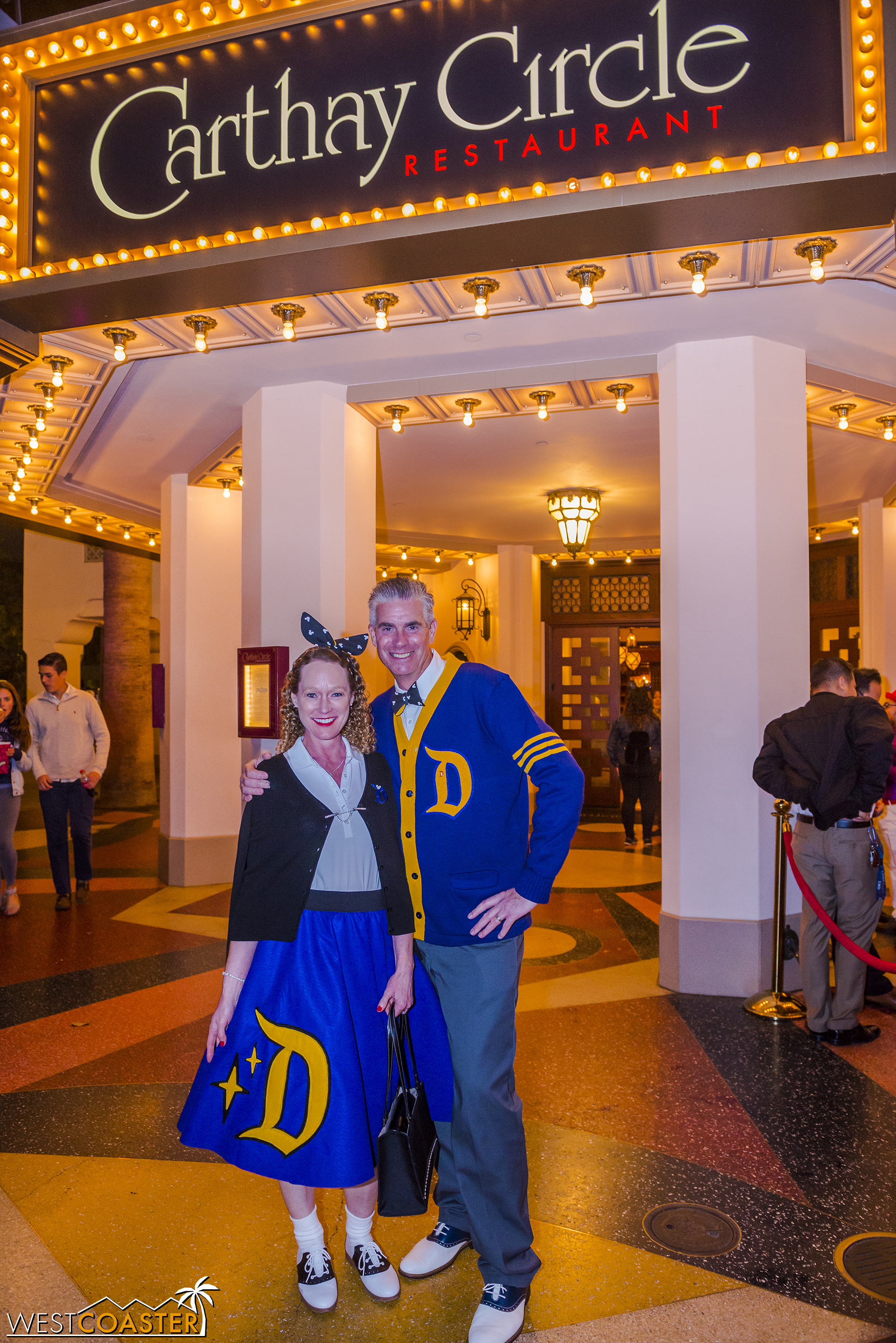 "And fellow Disney [hobbyist] photographer   Todd Young   and his wife seemed ready for Disney's upcoming Disney After Dark ""  Throwback Nite  !"""