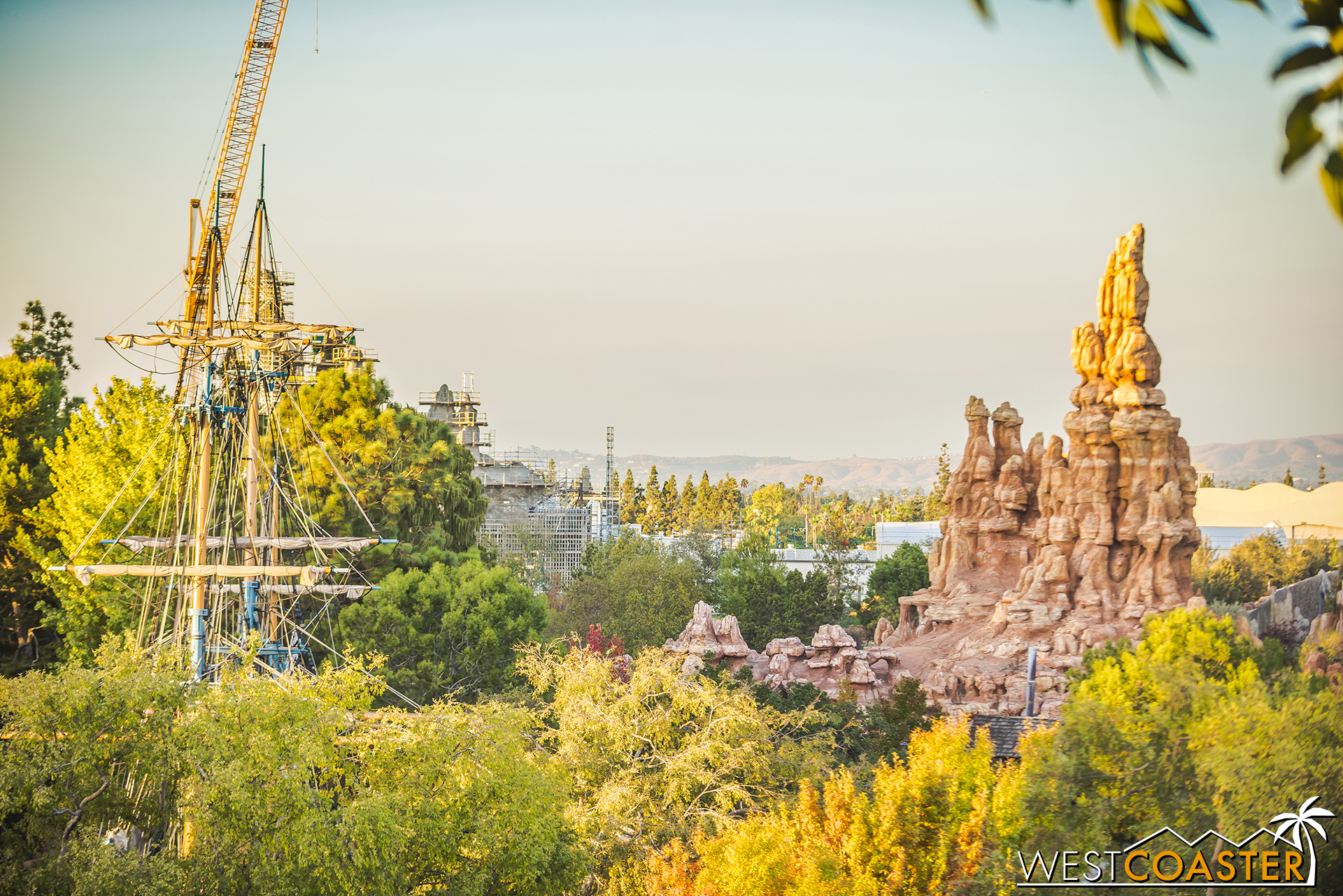 Lets jump to Tarzan's Treehouse and look at how things appear to be progressing from inside the park.