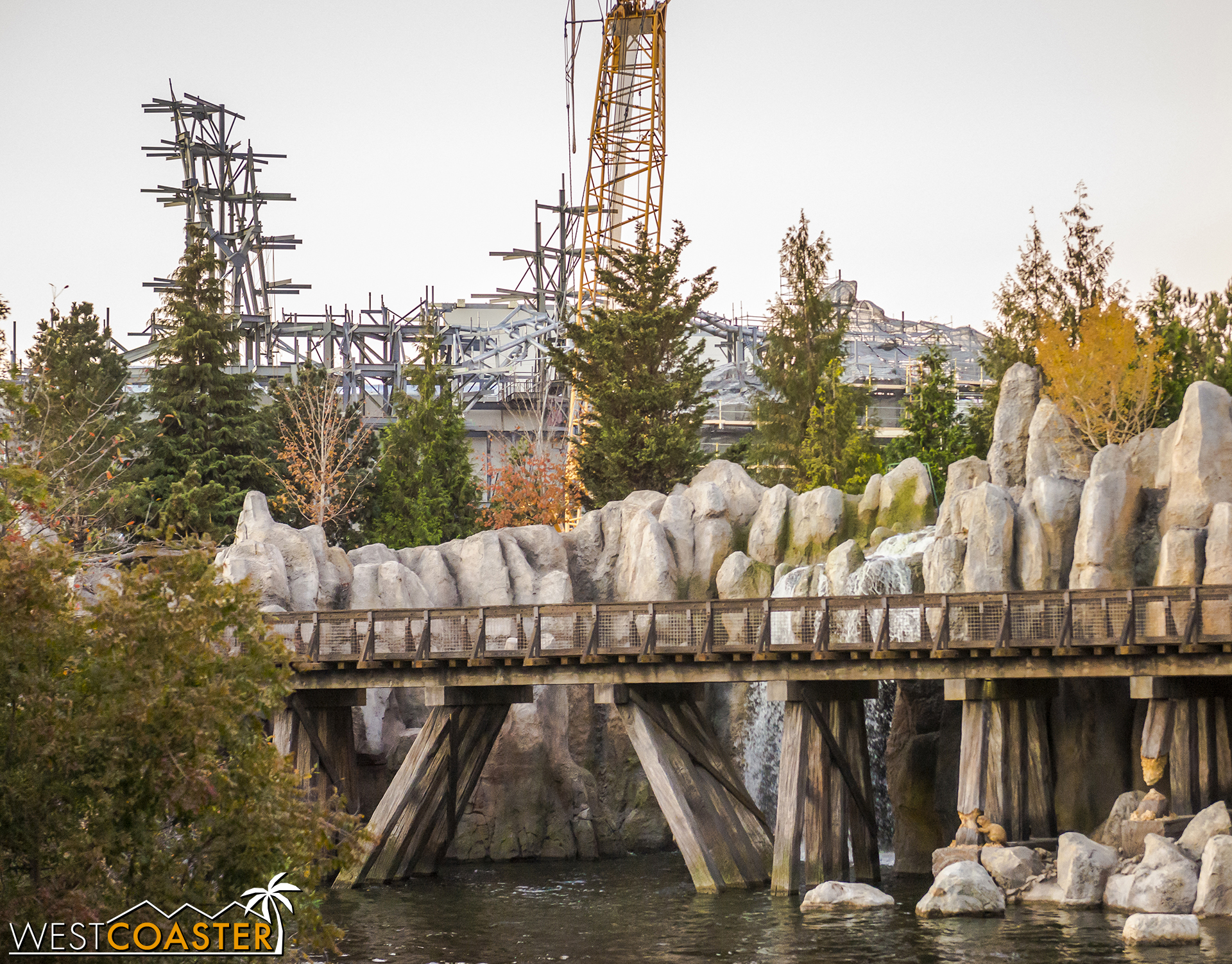 You can only see this great extent from the Mark Twain or Columbia as it rounds the far end of Tom Sawyer Island.  And probably some of this from Tom Sawyer Island itself.