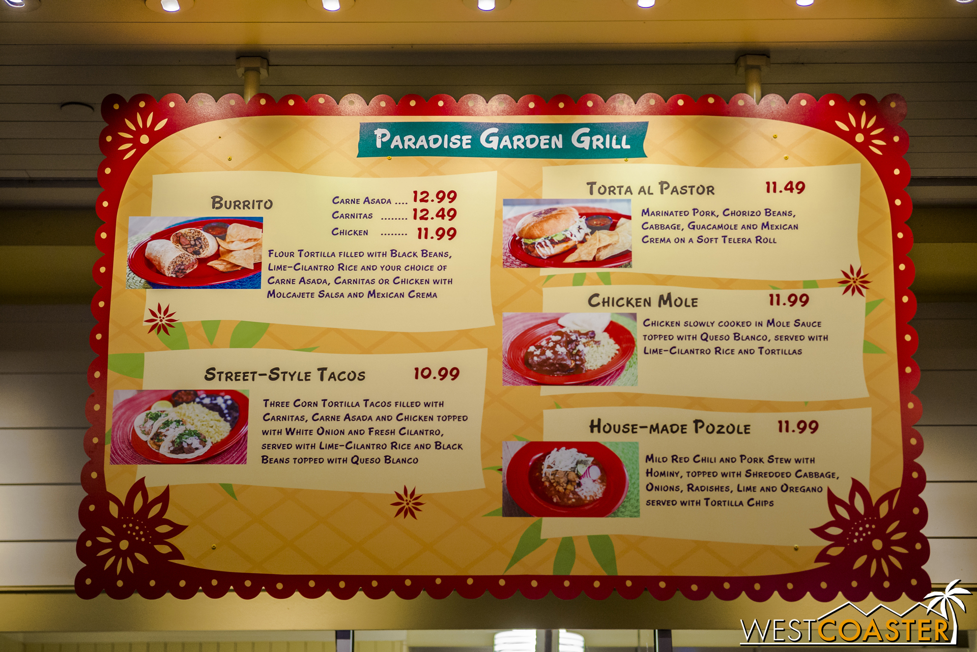 The Garden Grill has a Mexican menu instead of a Mediterranean one still.