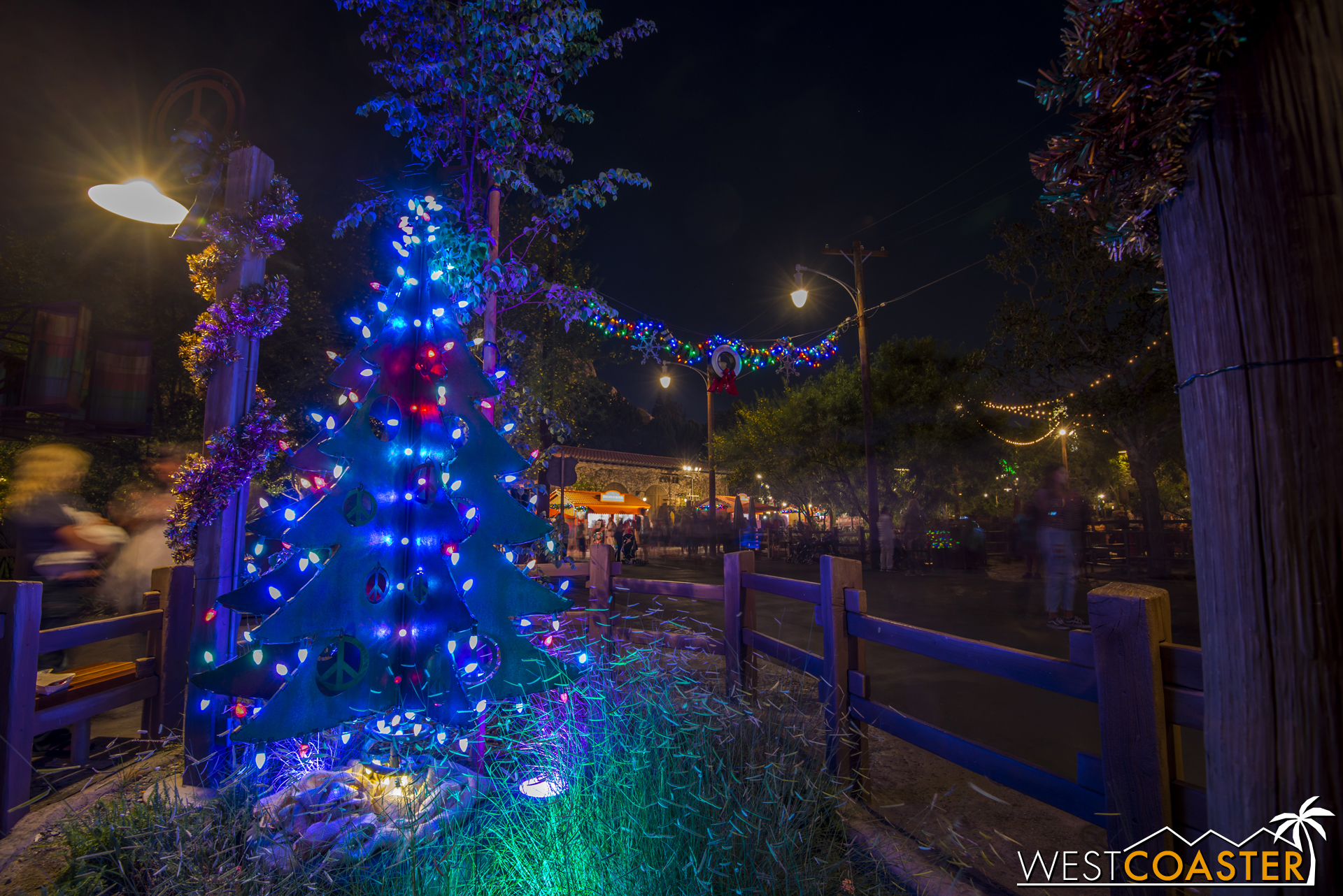 Cars Land has an abundance of Christmas trees of various types.  Have you found them all?
