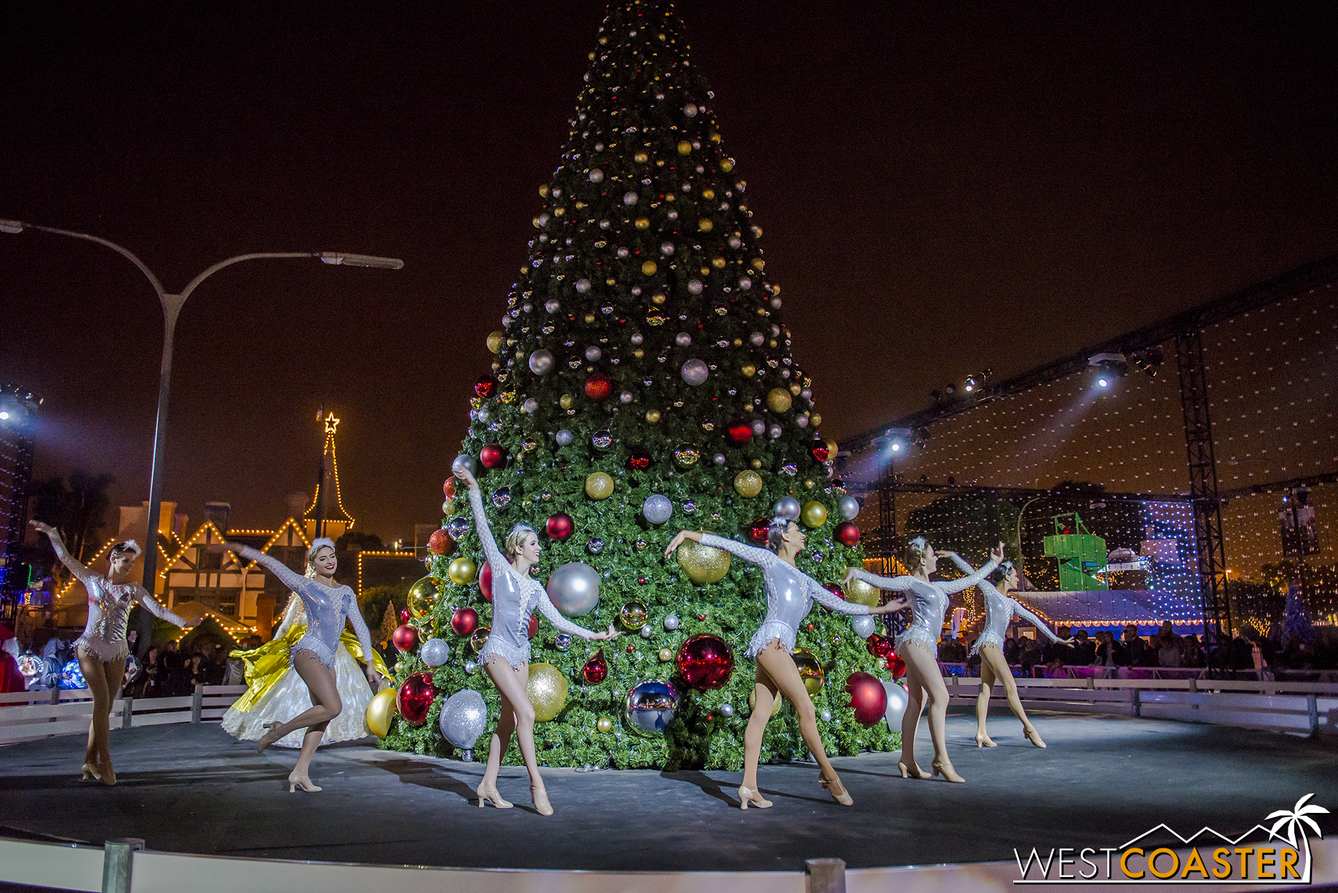 Dancers start off the tree lighting ceremony.