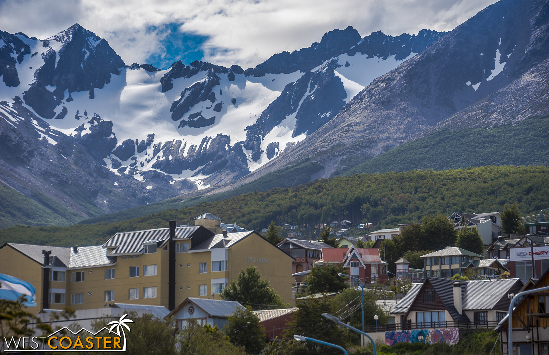 The (remnants of the) Martial Glacier dominate(s) the view in Ushuaia.