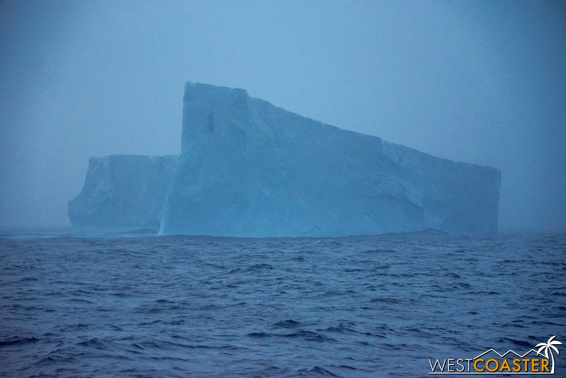 Late on our first full day at sea, we spotted a large iceberg drifting by.
