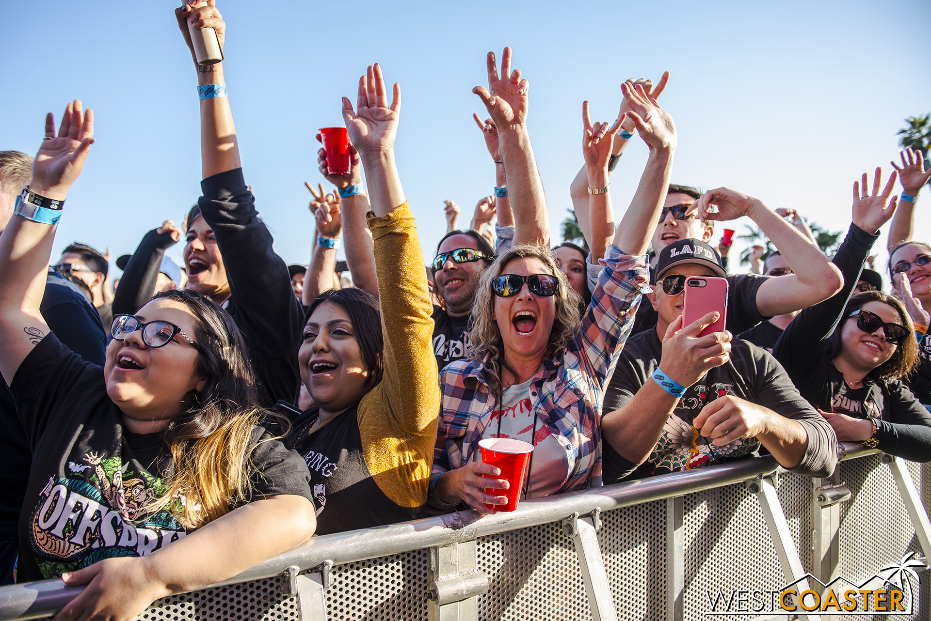 Fans enjoying the music line-up last year.