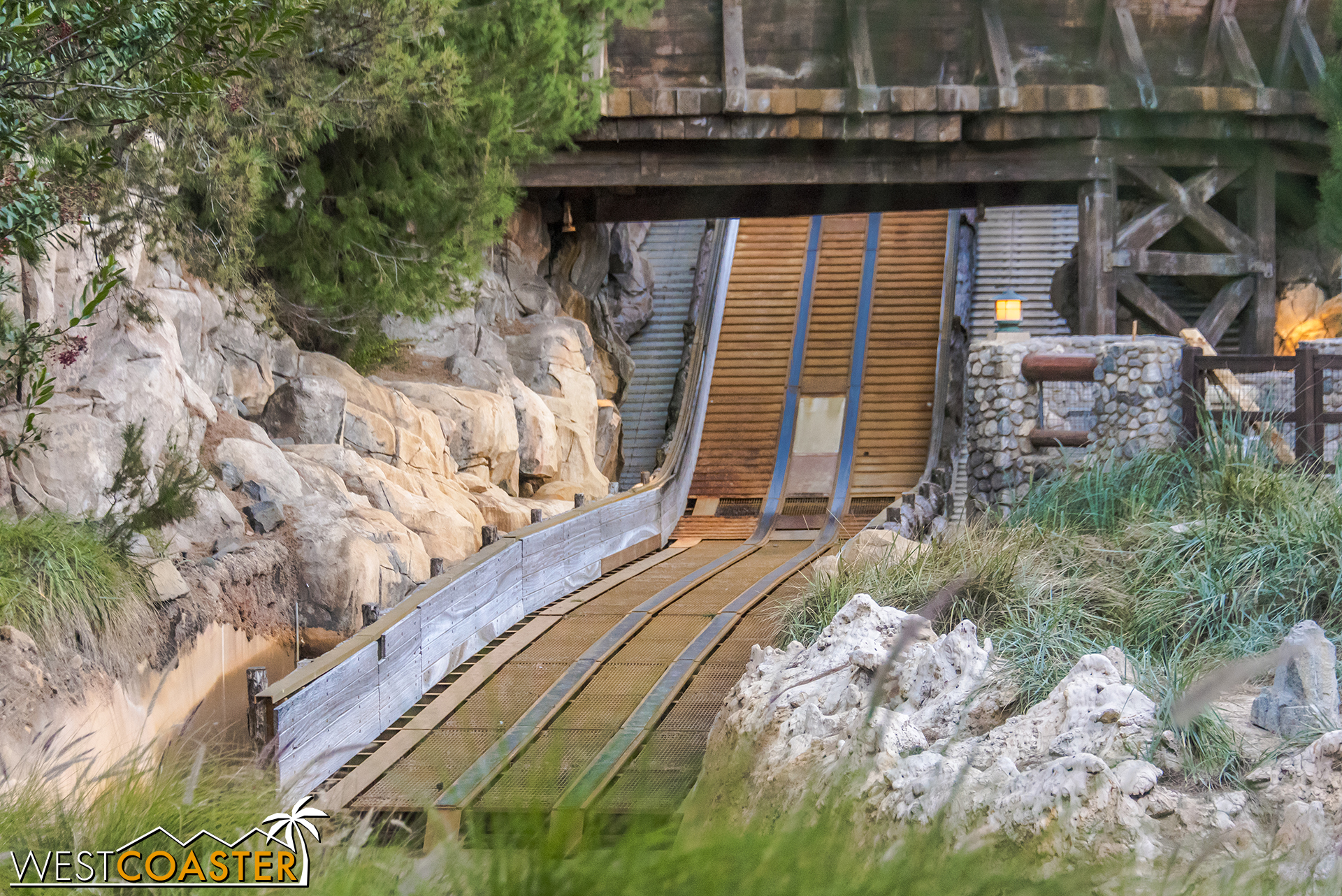 """And if you ever wanted to see what the """"track"""" of a rapids ride looks like, here you go."""