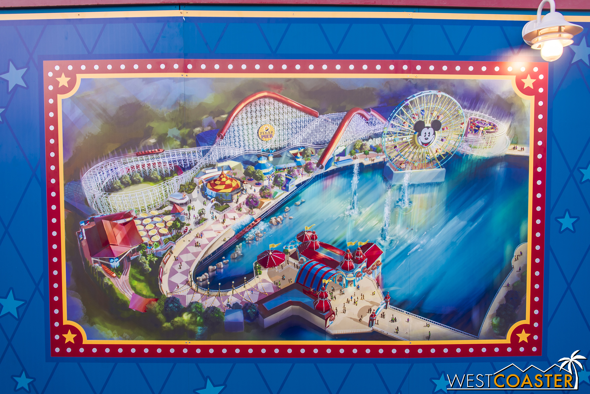 Paradise Pier is transforming, and they've posted concept art all along the work walls to give guests an idea of what's coming.