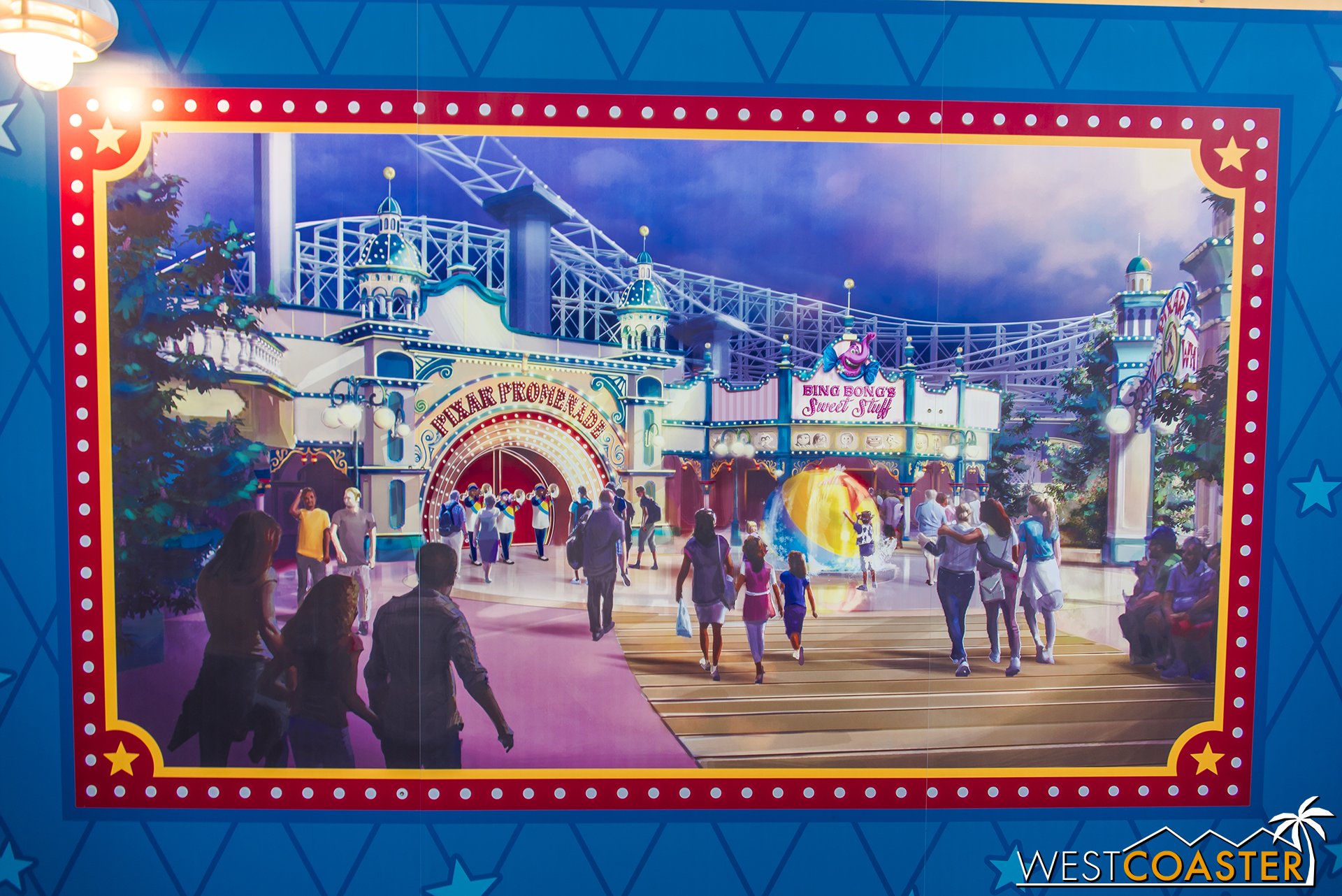 Meanwhile, the Victorian seaside facades will receive facelifts that tie them to Pixar properties and themes.