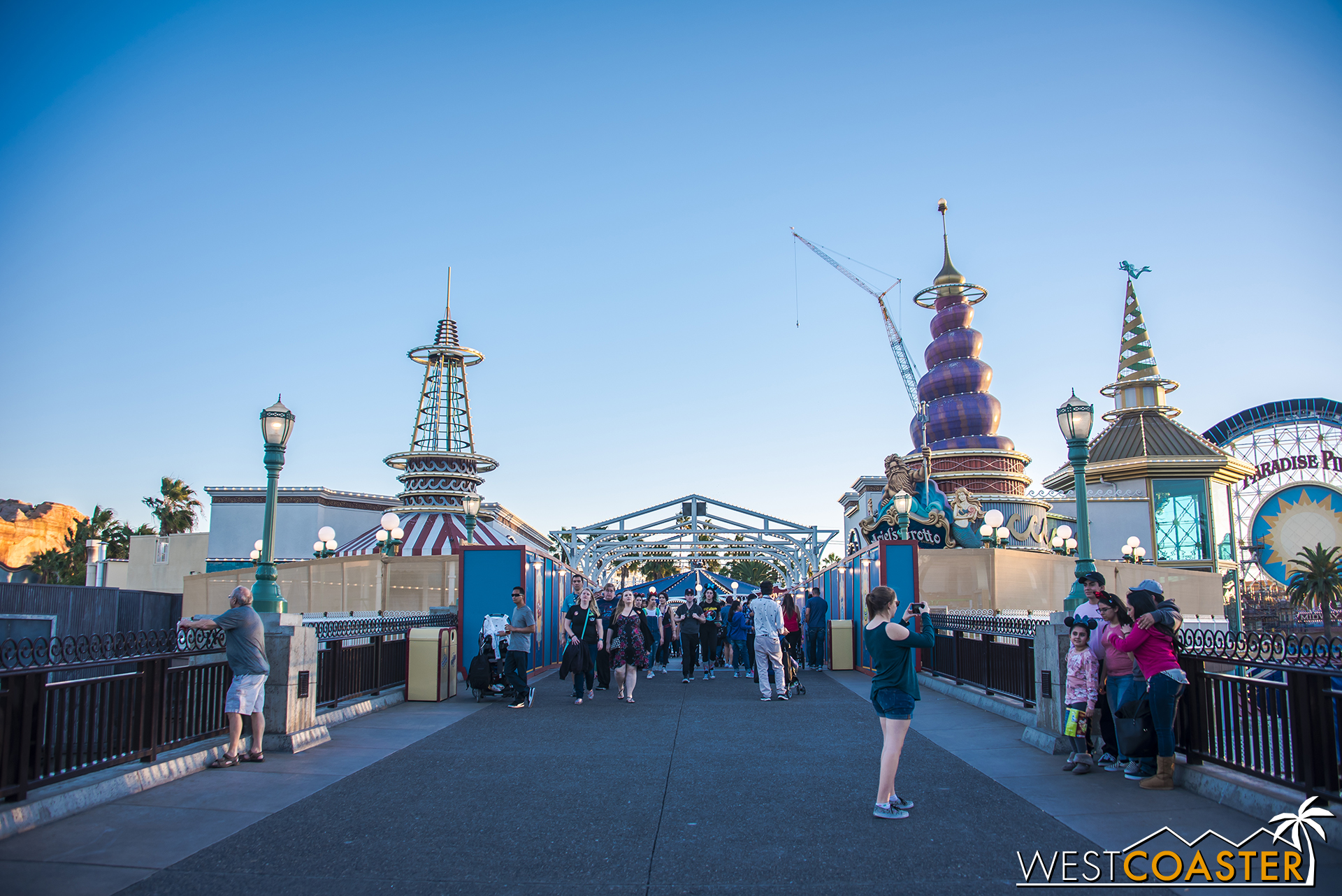 In real life Paradise Pier, changes are already afoot, as the overhead signage has already been taken down.
