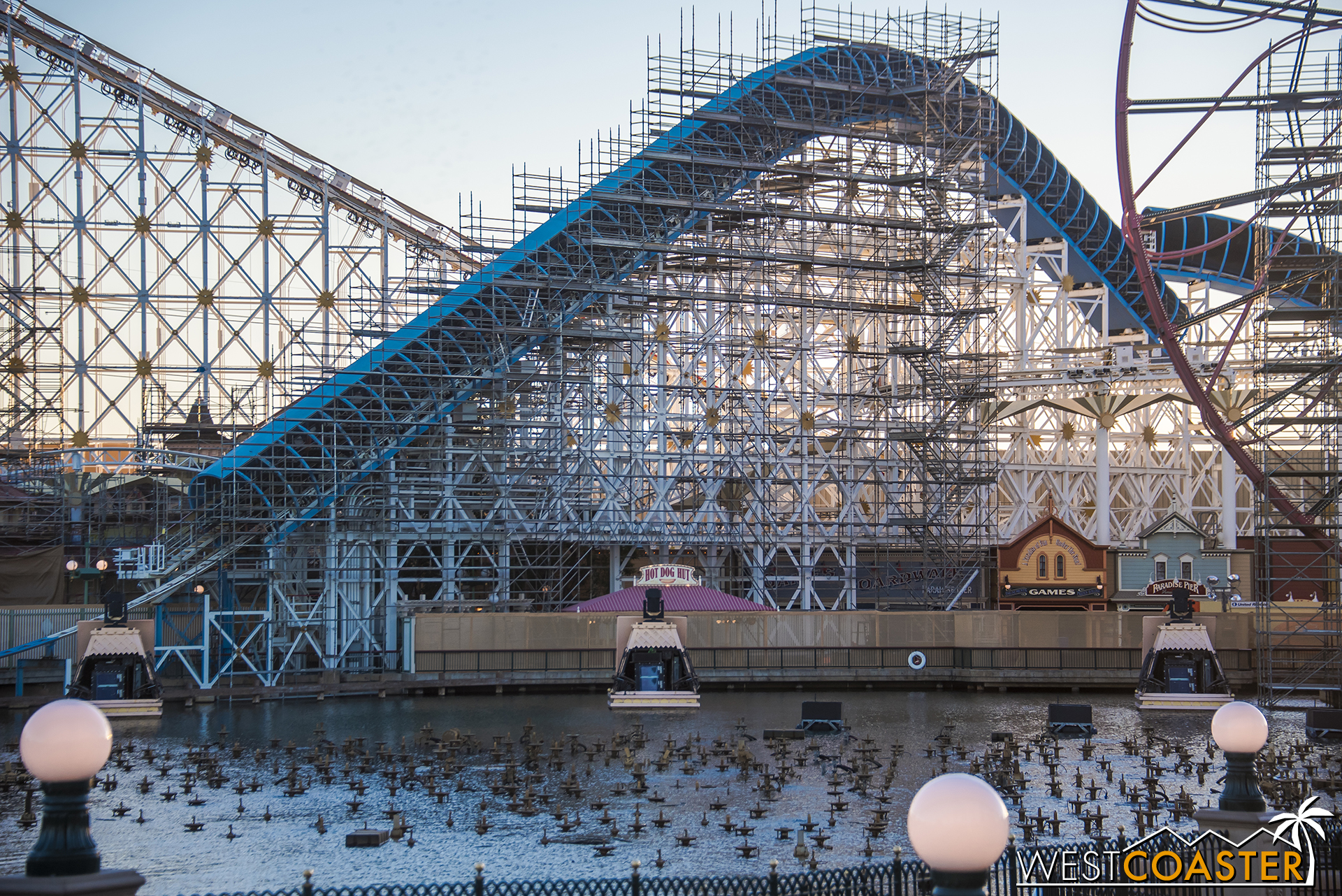 As you can see, the makeover is extensive and encompasses the entire back half of Paradise Pier.