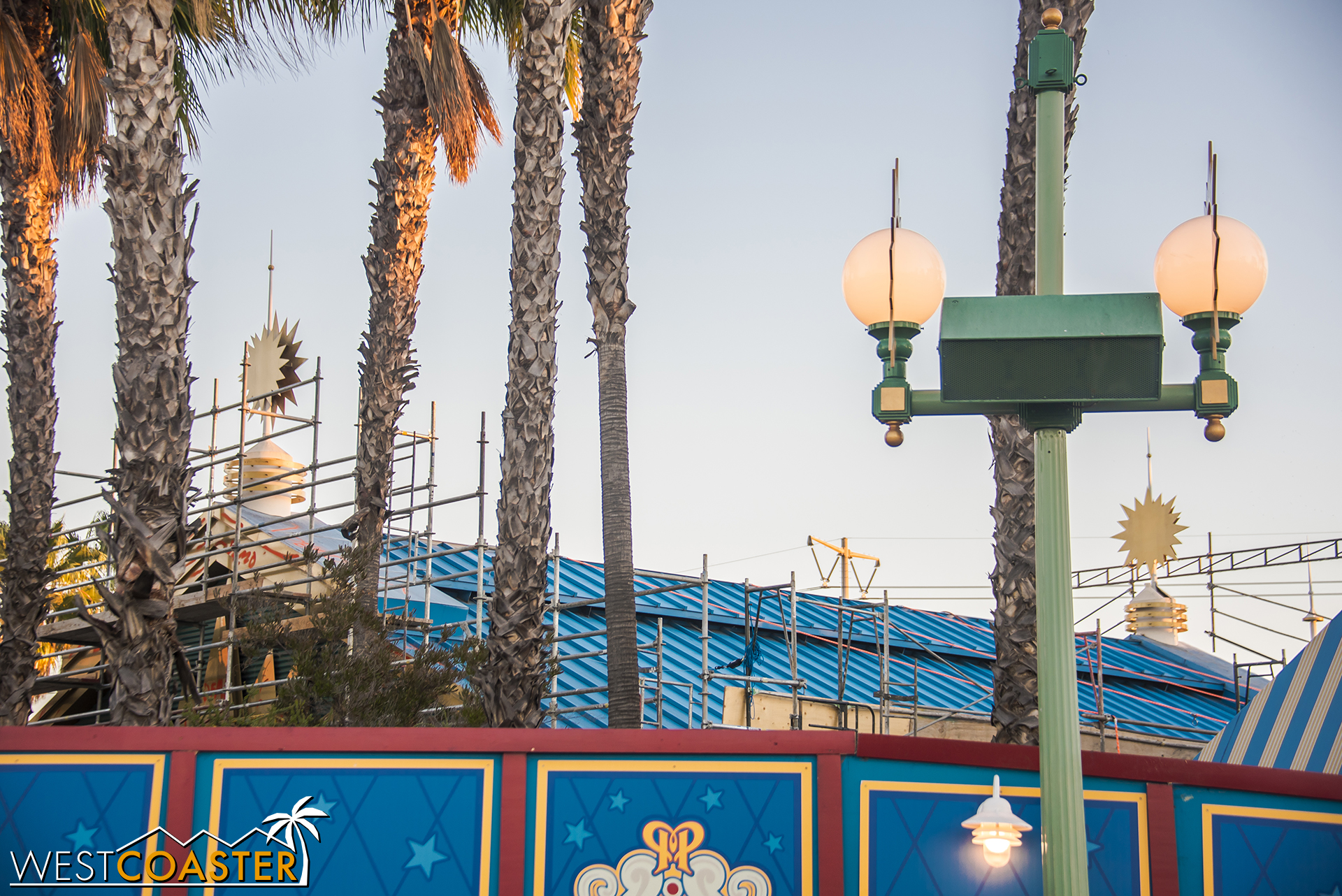The station of California Screamin' will see a significant transformation into a mid-century looking building.