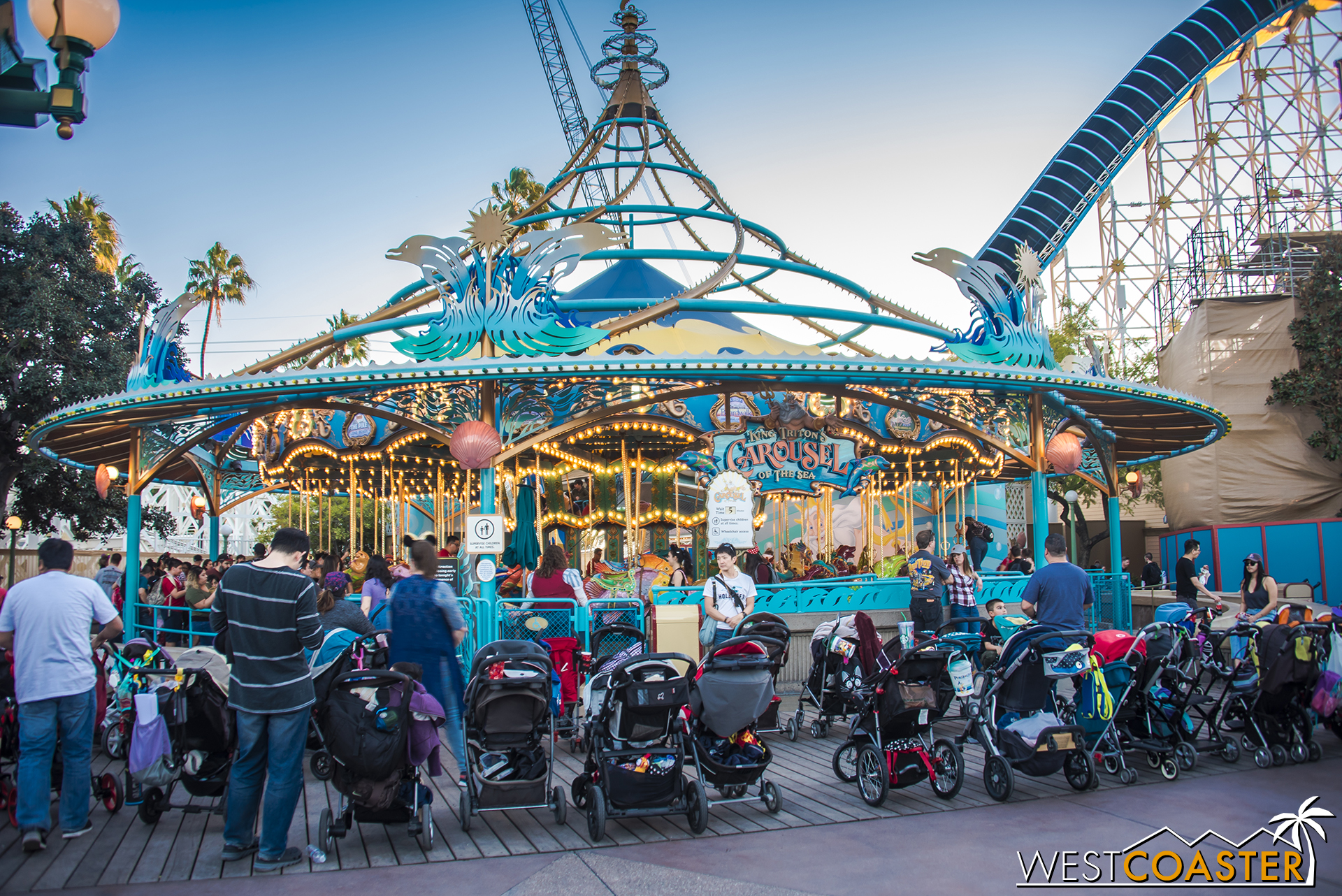 """King Triton's Carousel remains open. I'm not sure if there are plans for this to be changed, but as my friend, Danny, quipped, if they don't re-theme it to Toy Story and call it """"Woody's Round-Up,"""" that's a missed opportunity."""