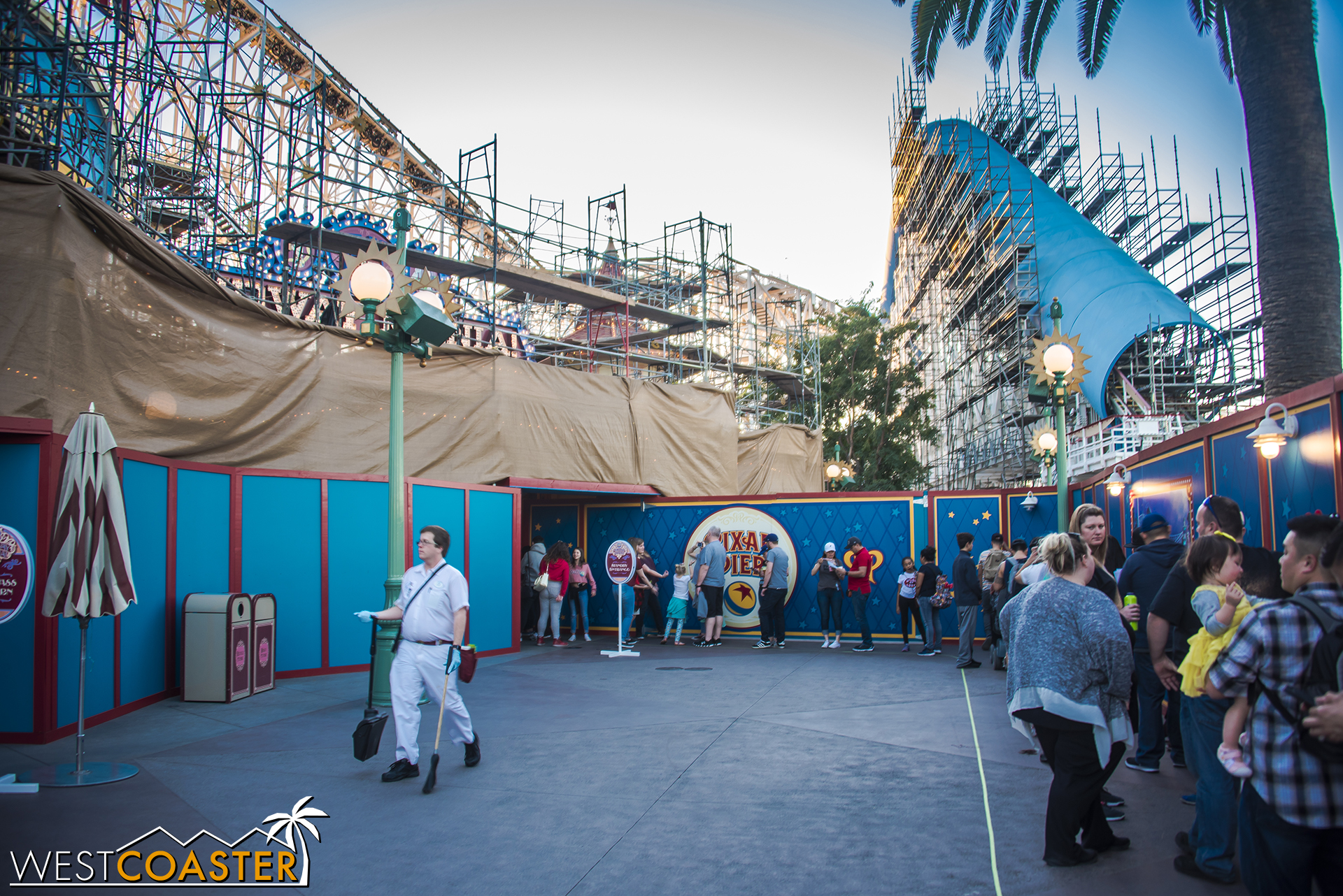 Toy Story Midway Mania remains open during this transformation as well.