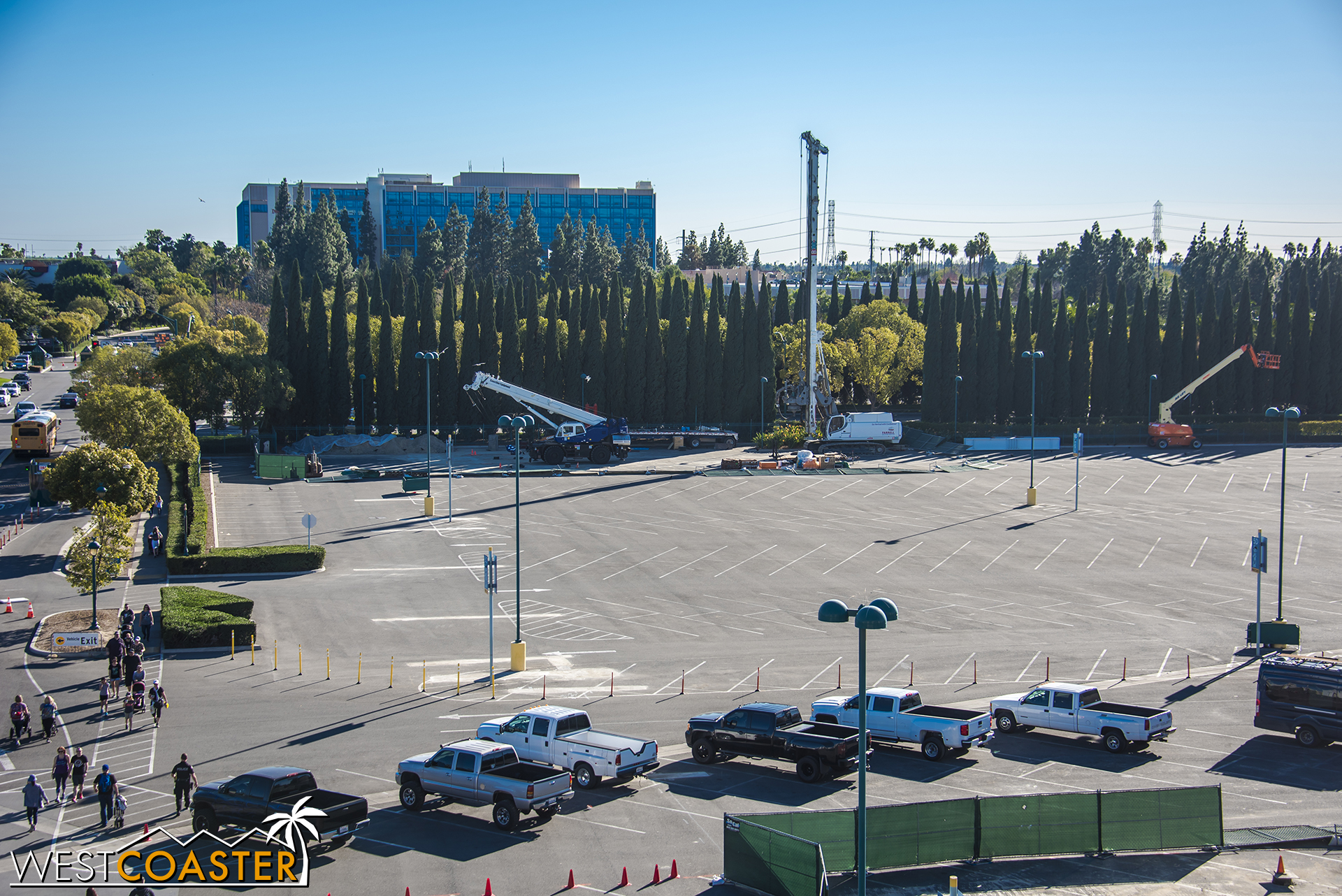 Some cranes and earth equipment have popped up over at the Chip & Dale lot.