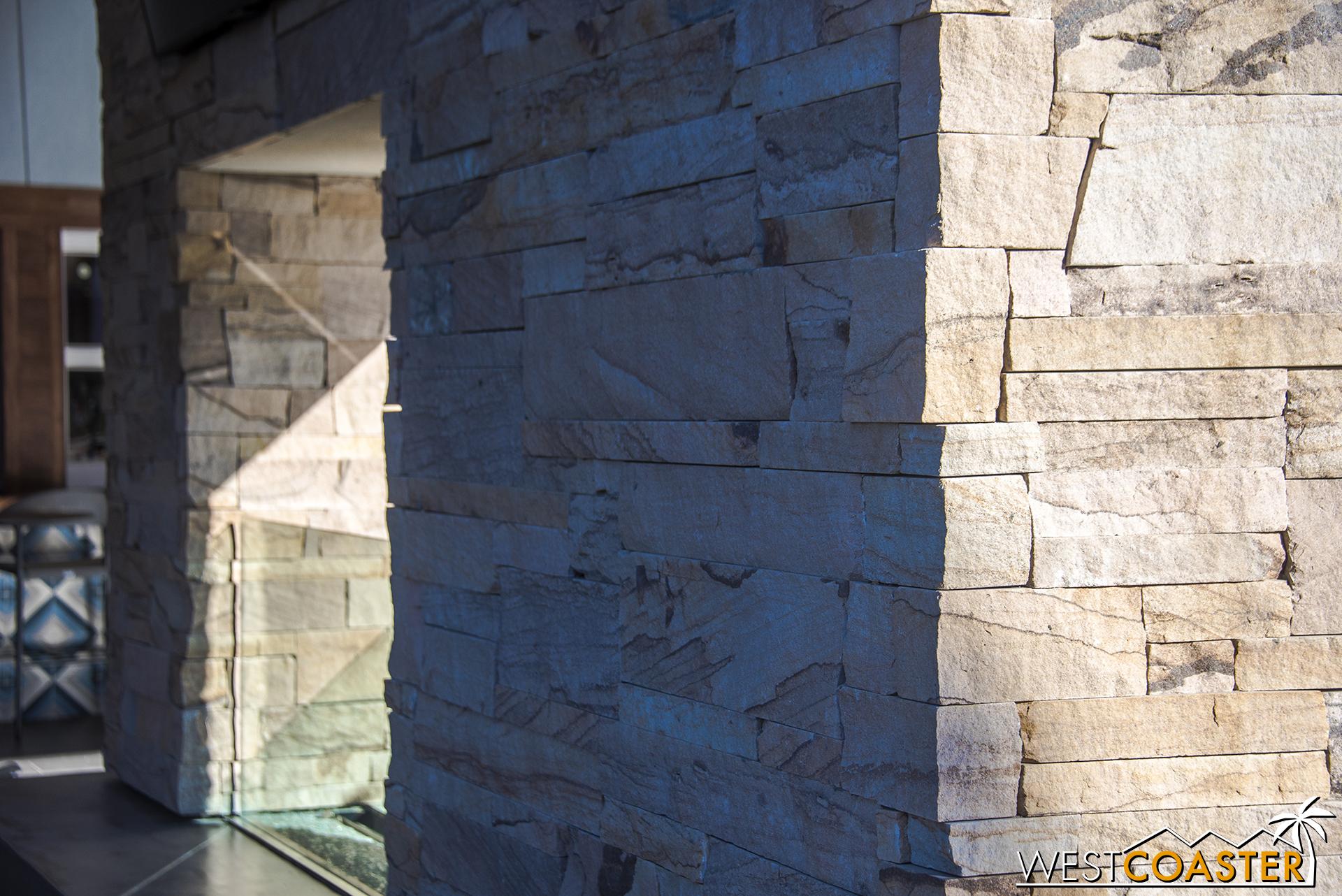 The stone veneer looks pretty.