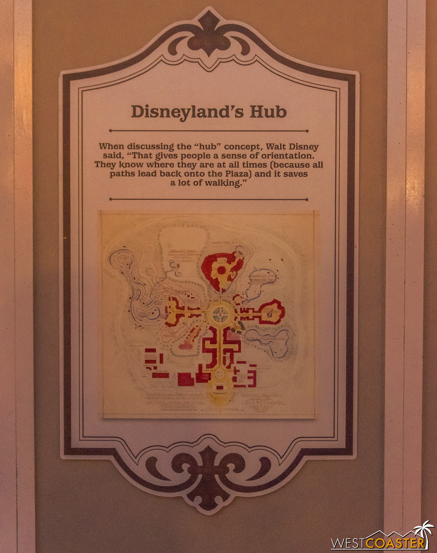 Signage here explains a bit about park design as Walt intend too.