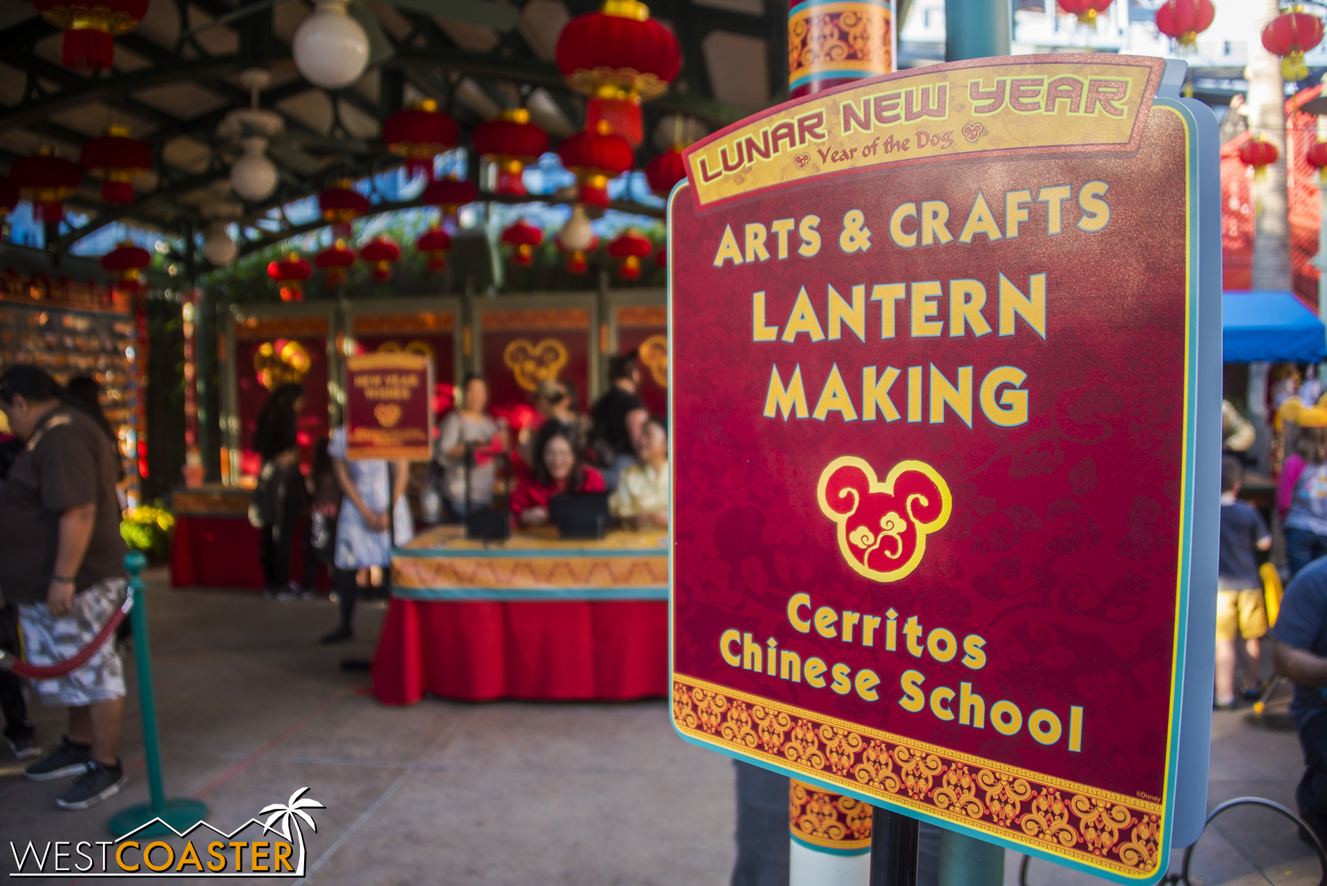 Cerritos Chinese School offers some Chinese arts and crafts. Kind of cool to see the place where I went to Chinese school for a few years as a kid make a feature here.