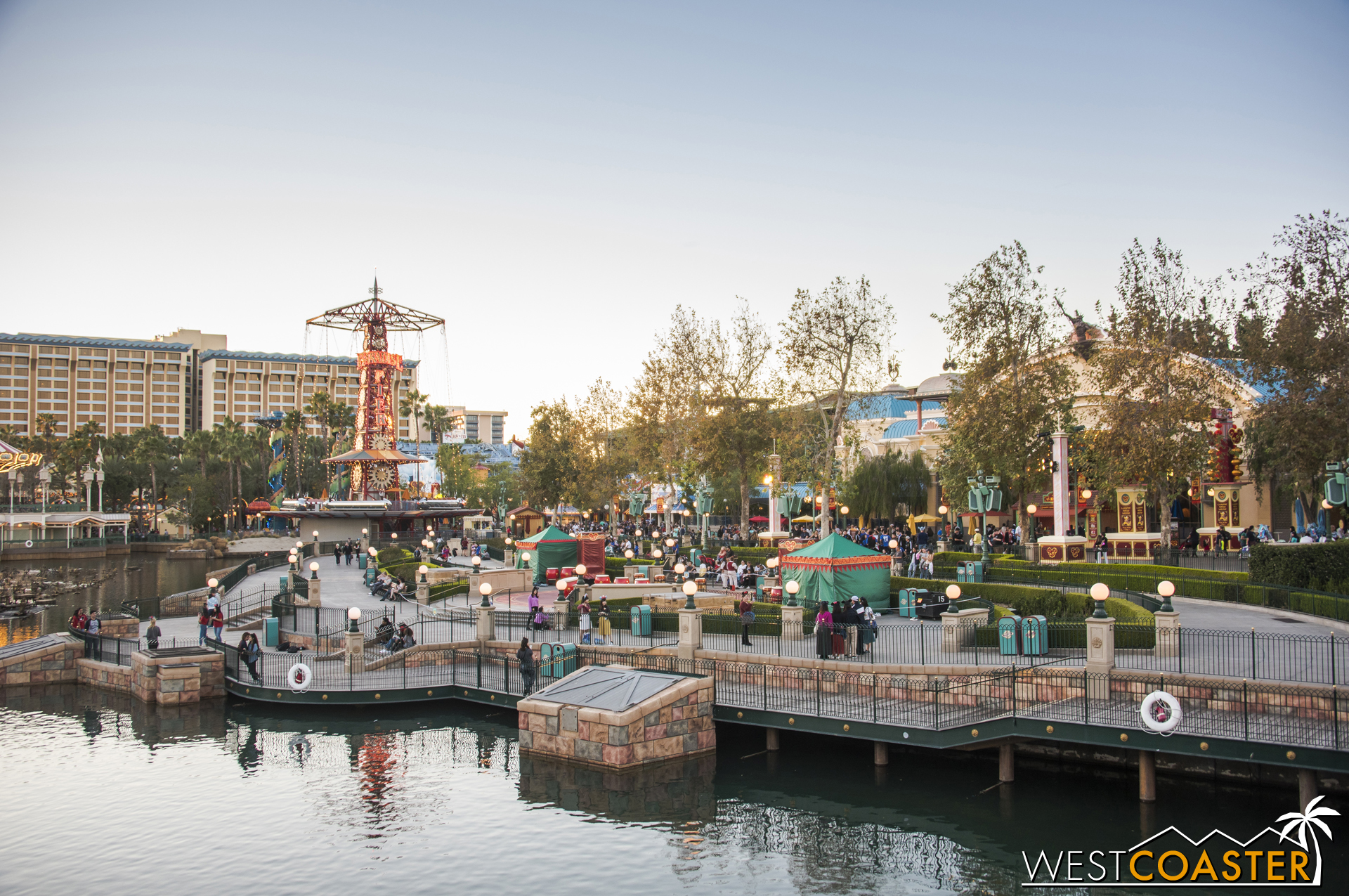 """As you can see, the festival has its own nice little niche in this part of Paradise Pier. On a related note, this is the area that will be renamed to """"Paradise Park"""" as its own themed land once the Pixar Pier secession is complete."""